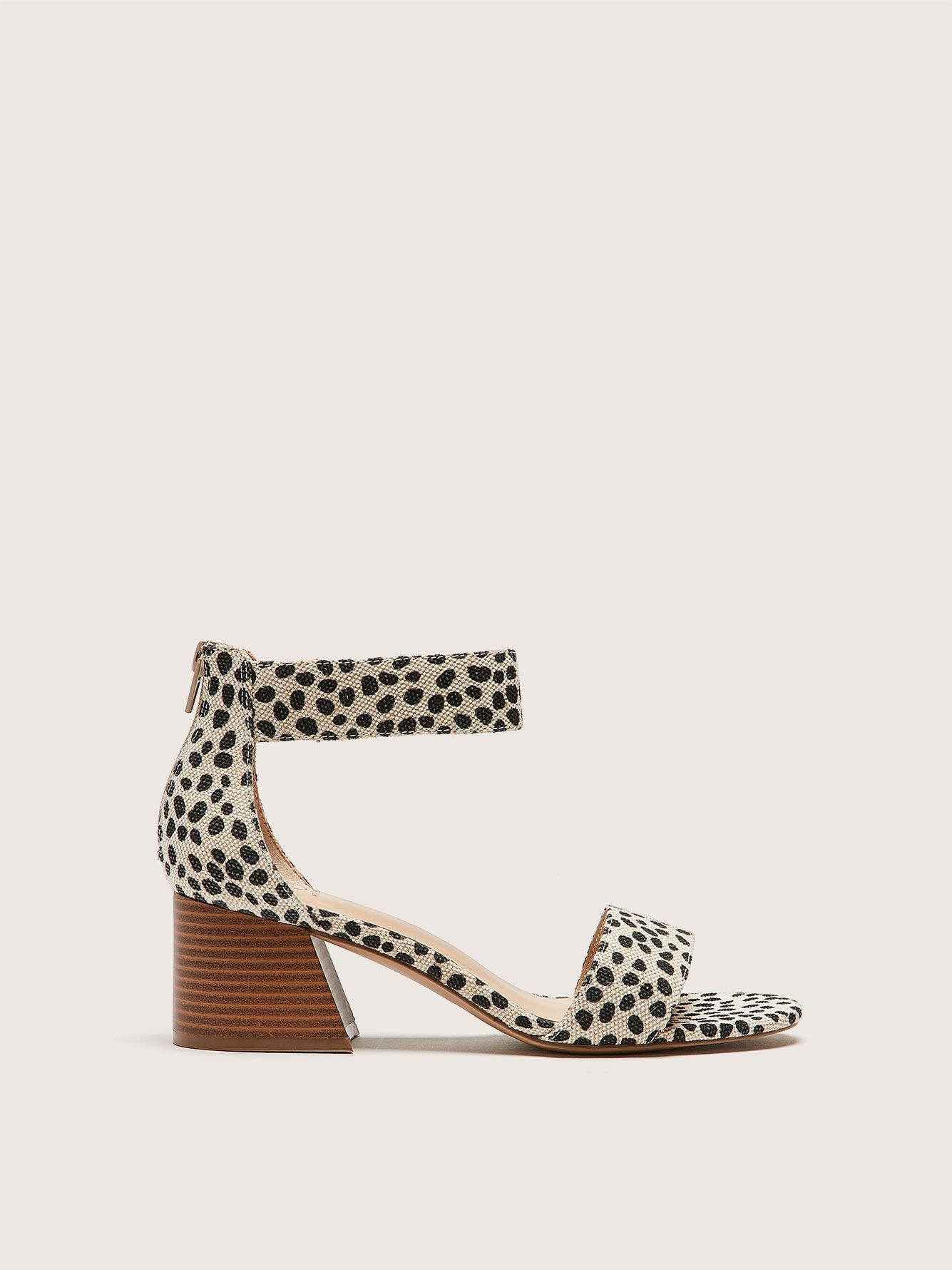 Wide Ankle Strap Cheetah Print Sandal - Addition Elle