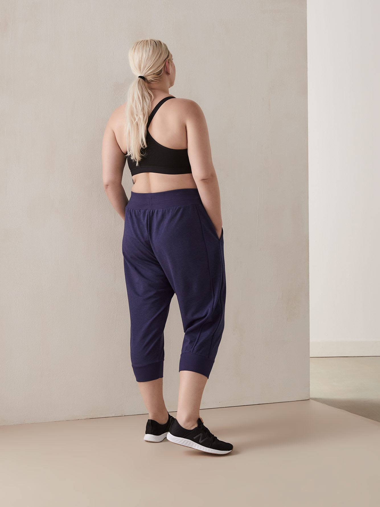 Heathered French Terry Capri Jogger