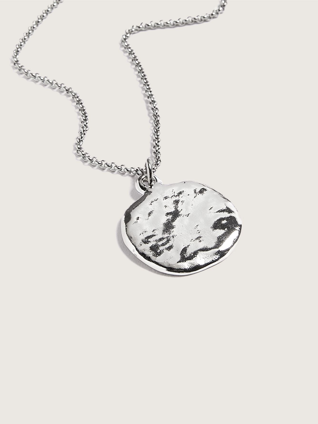 Rhodium Plated Moonwalk Pendant Necklace - Biko