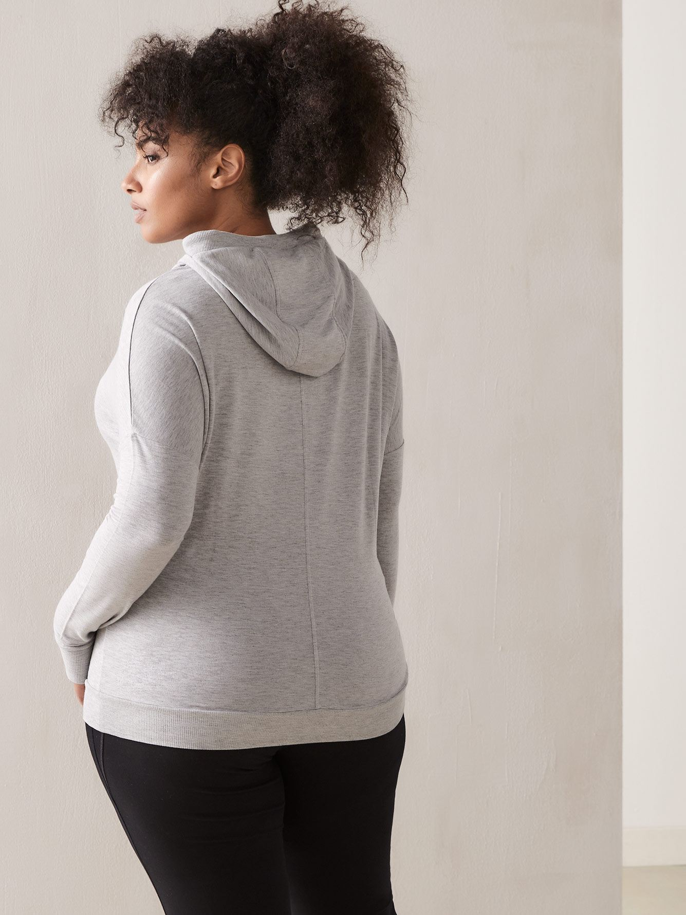 Addition Elle - Pull-on Grey Hoodie
