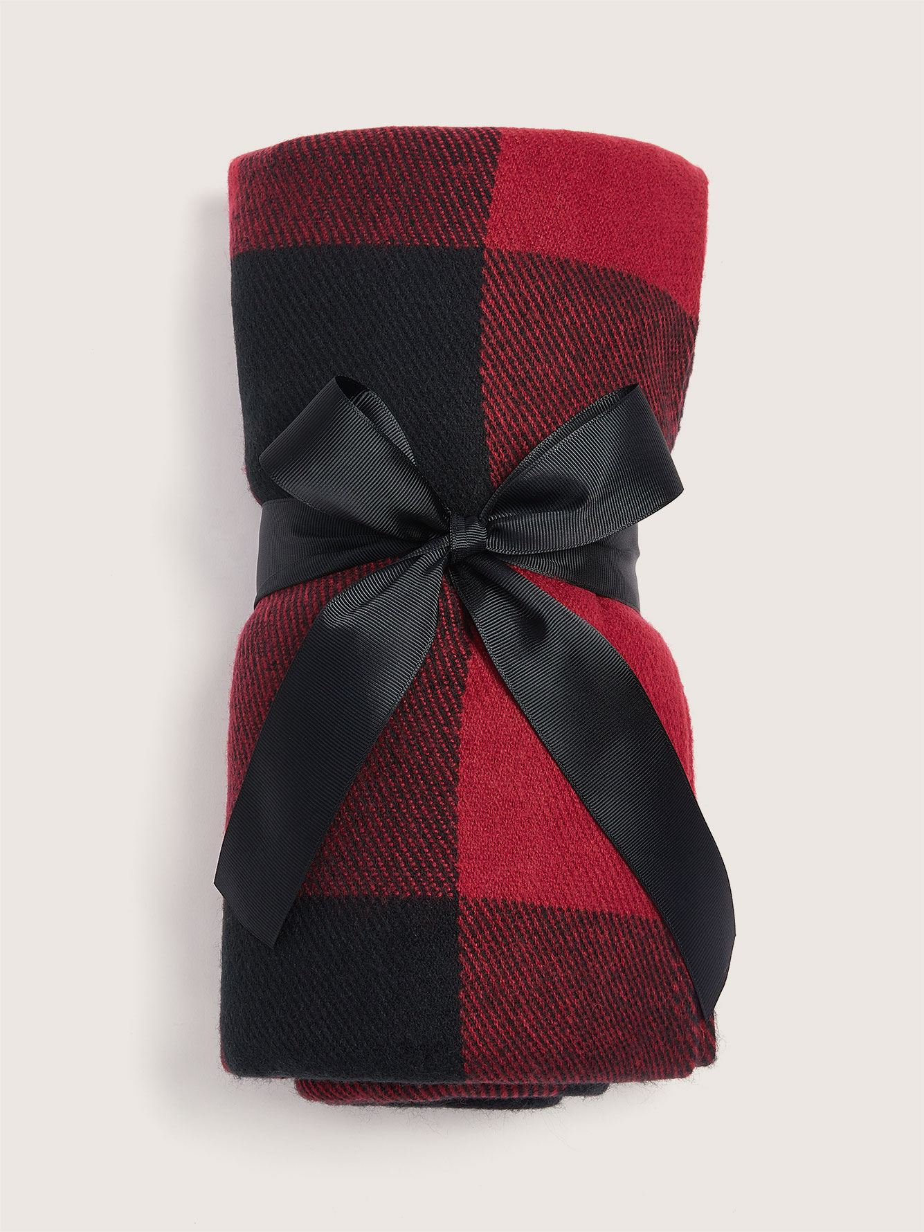 Frayed Edge Plaid Throw Blanket - Addition Elle