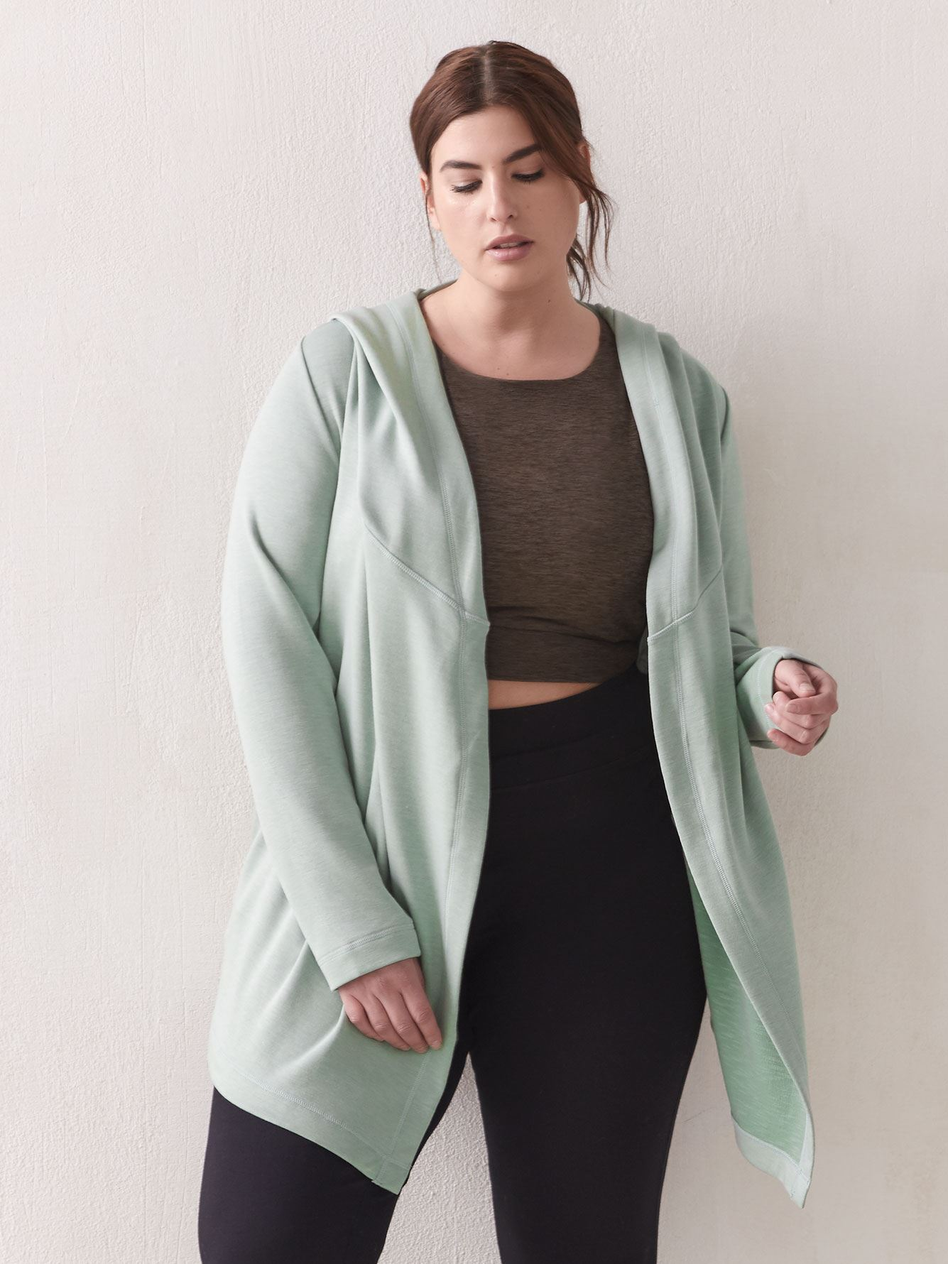 Hooded Cascade Cardigan - ActiveZone