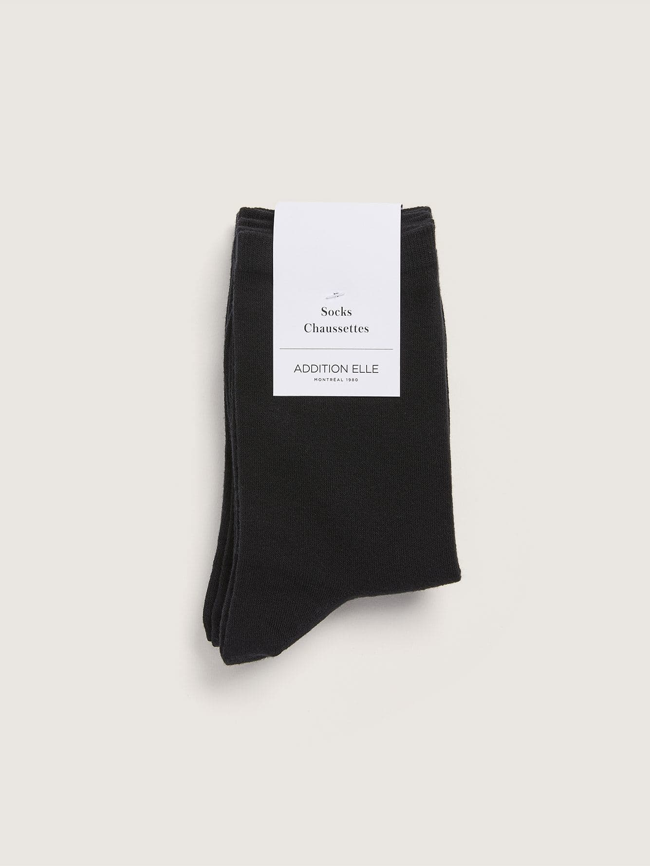 3 Pairs of Solid Cotton Socks