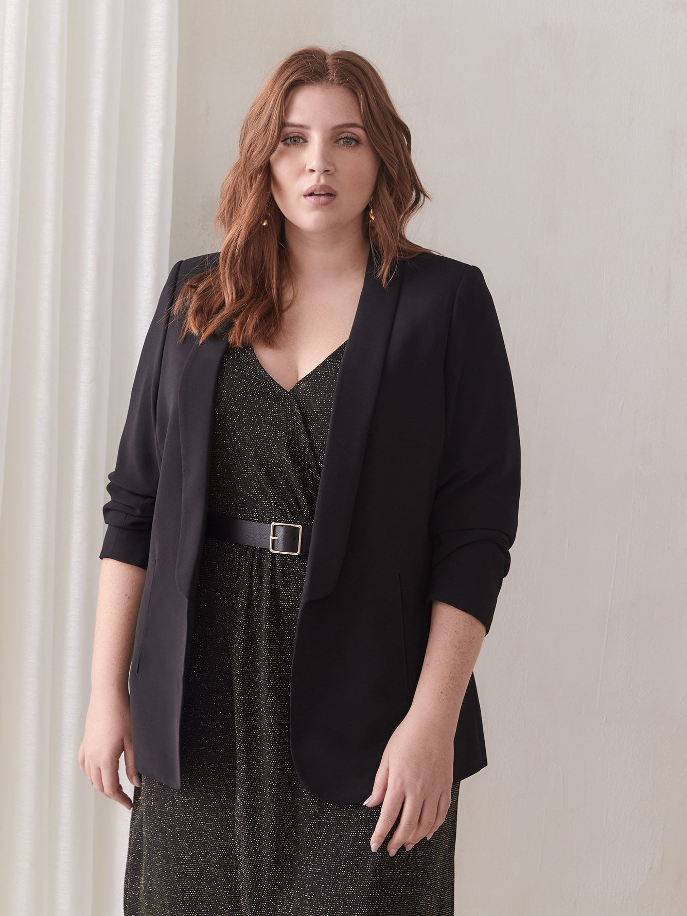 Black Shawl Collar Blazer