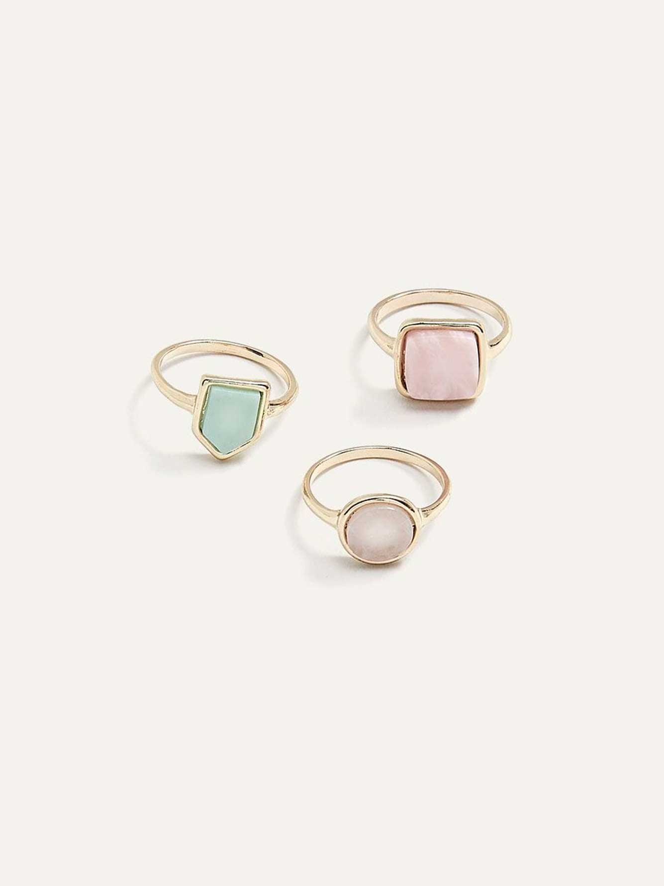 3 Rings with Stones