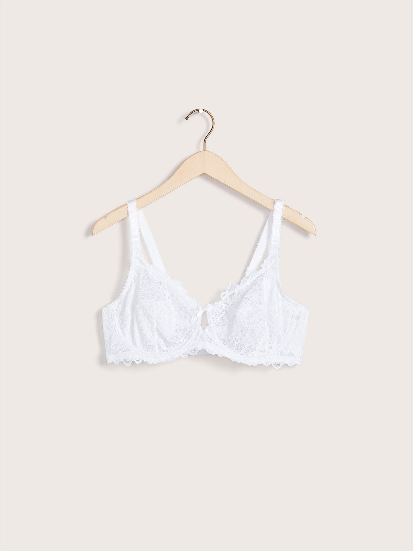Unlined Lace Bra, G & H Cups