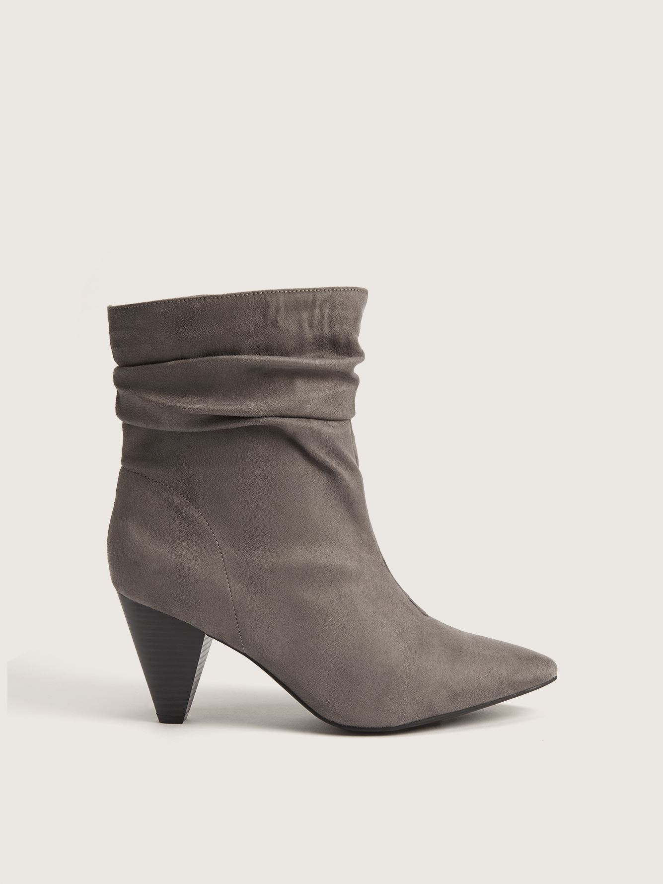 Wide Ruched Ankle Booties - Addition Elle