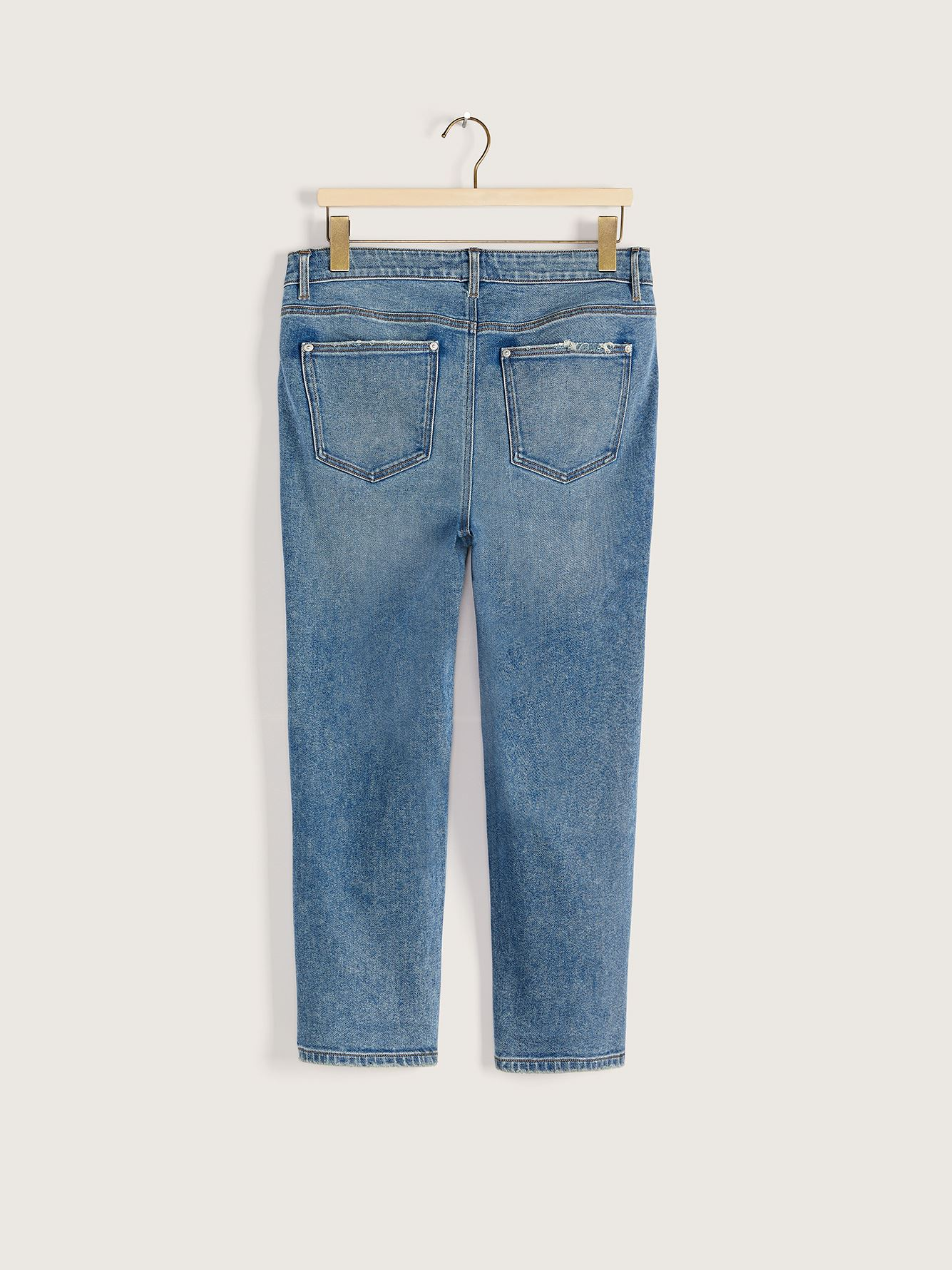 Straight Cropped High-Rise Vintage Jean - Addition Elle
