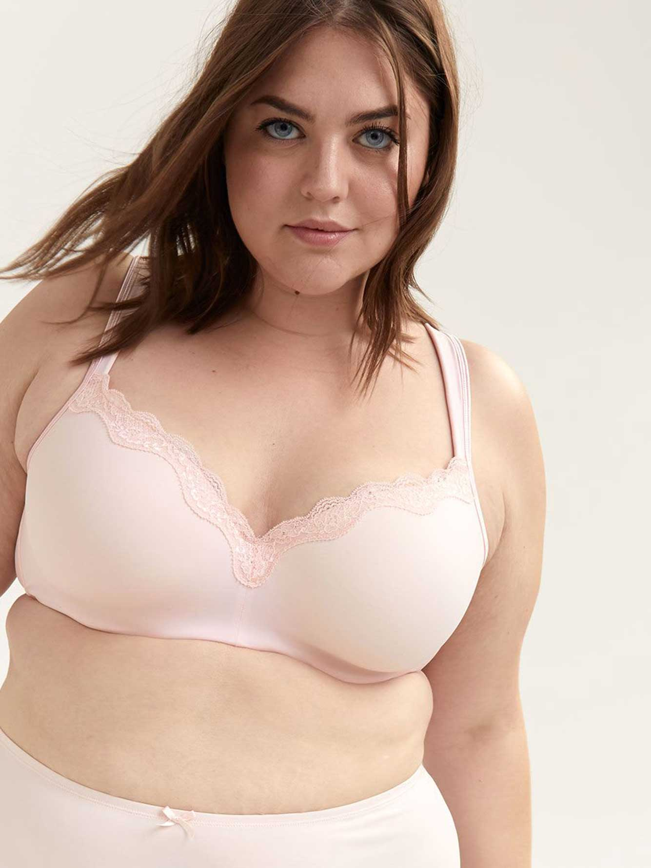 Padded T-Shirt Bra with Lace, G & H Cups - ti Voglio