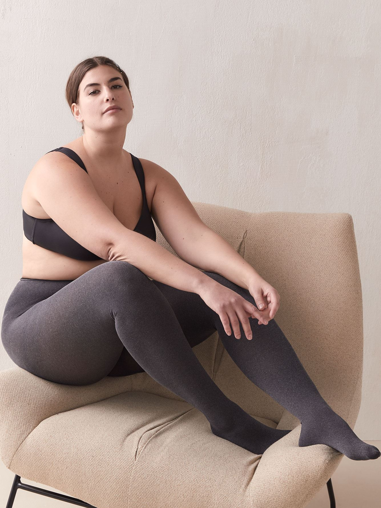 Dark Heather Grey Tights - Addition Elle