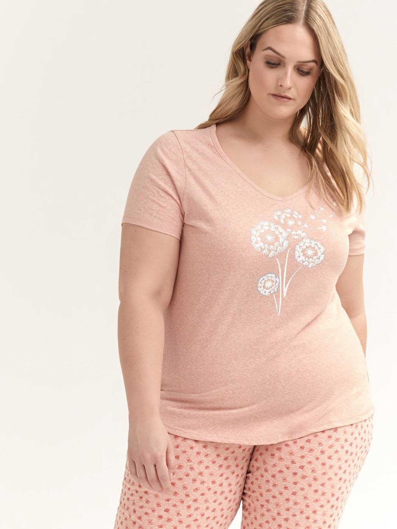 Printed Short Sleeve Pyjama T-Shirt - ti Voglio