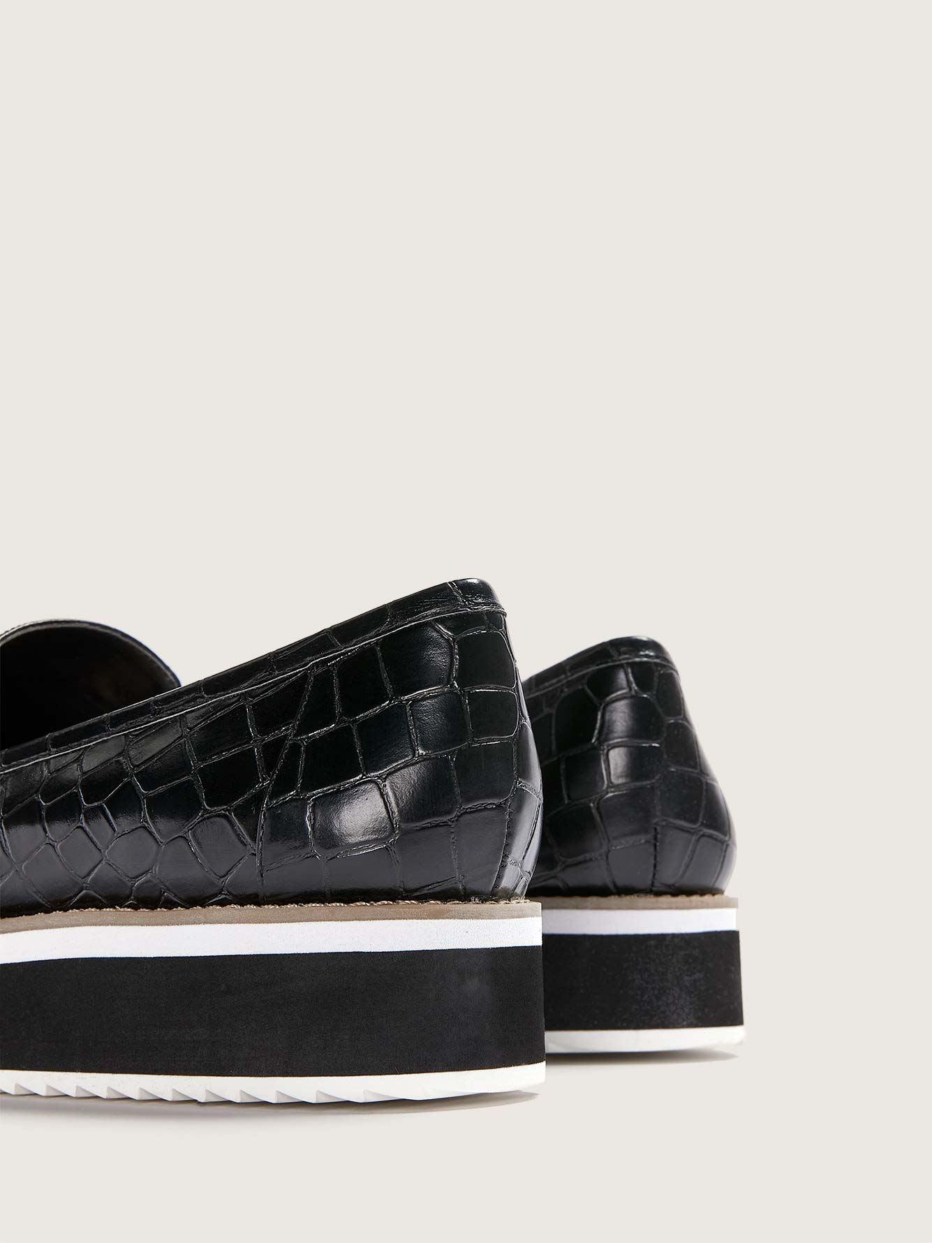 Wide Width Croco Flatform Loafers - Addition Elle