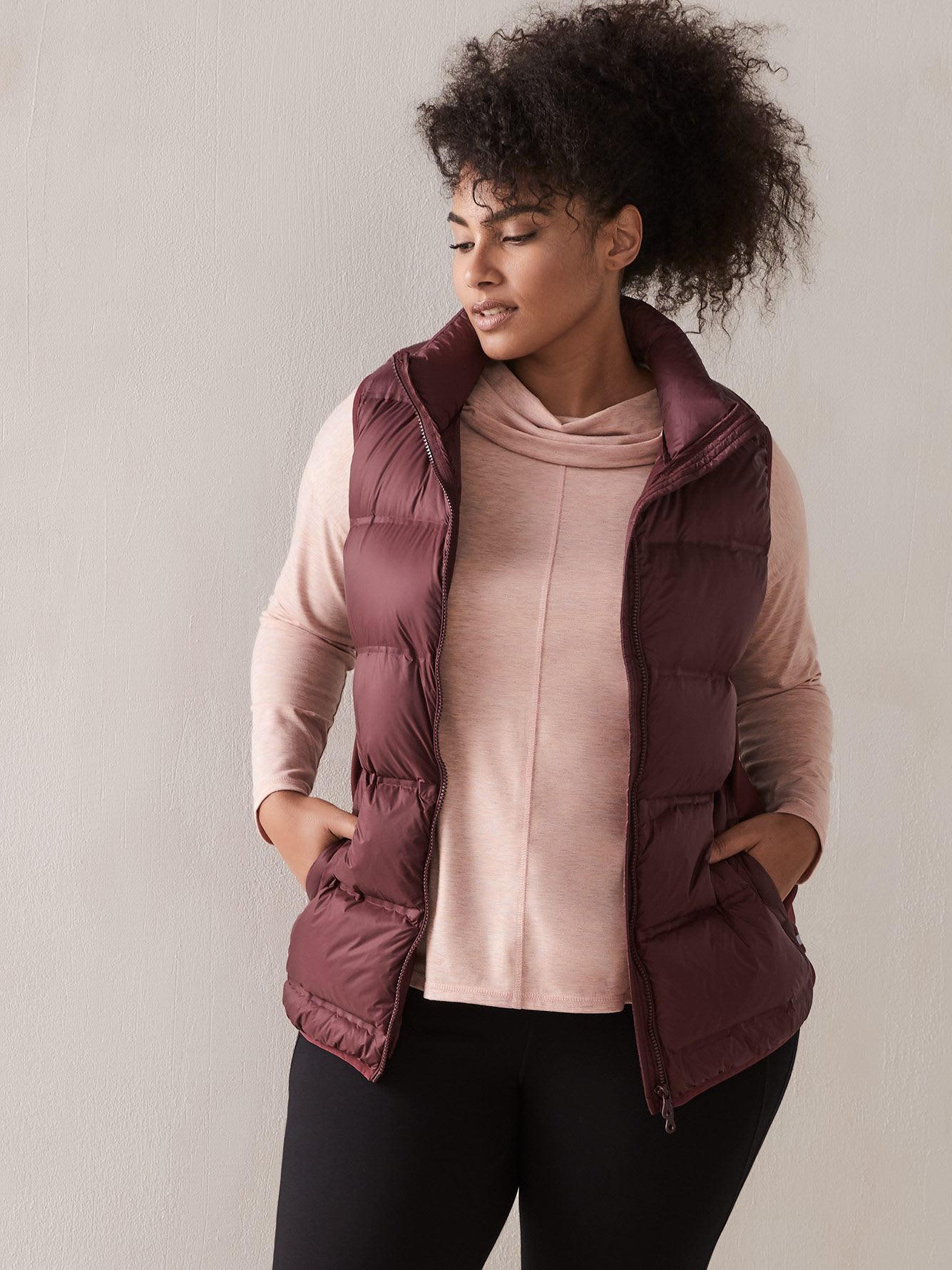 Packable Down Vest - Addition Elle