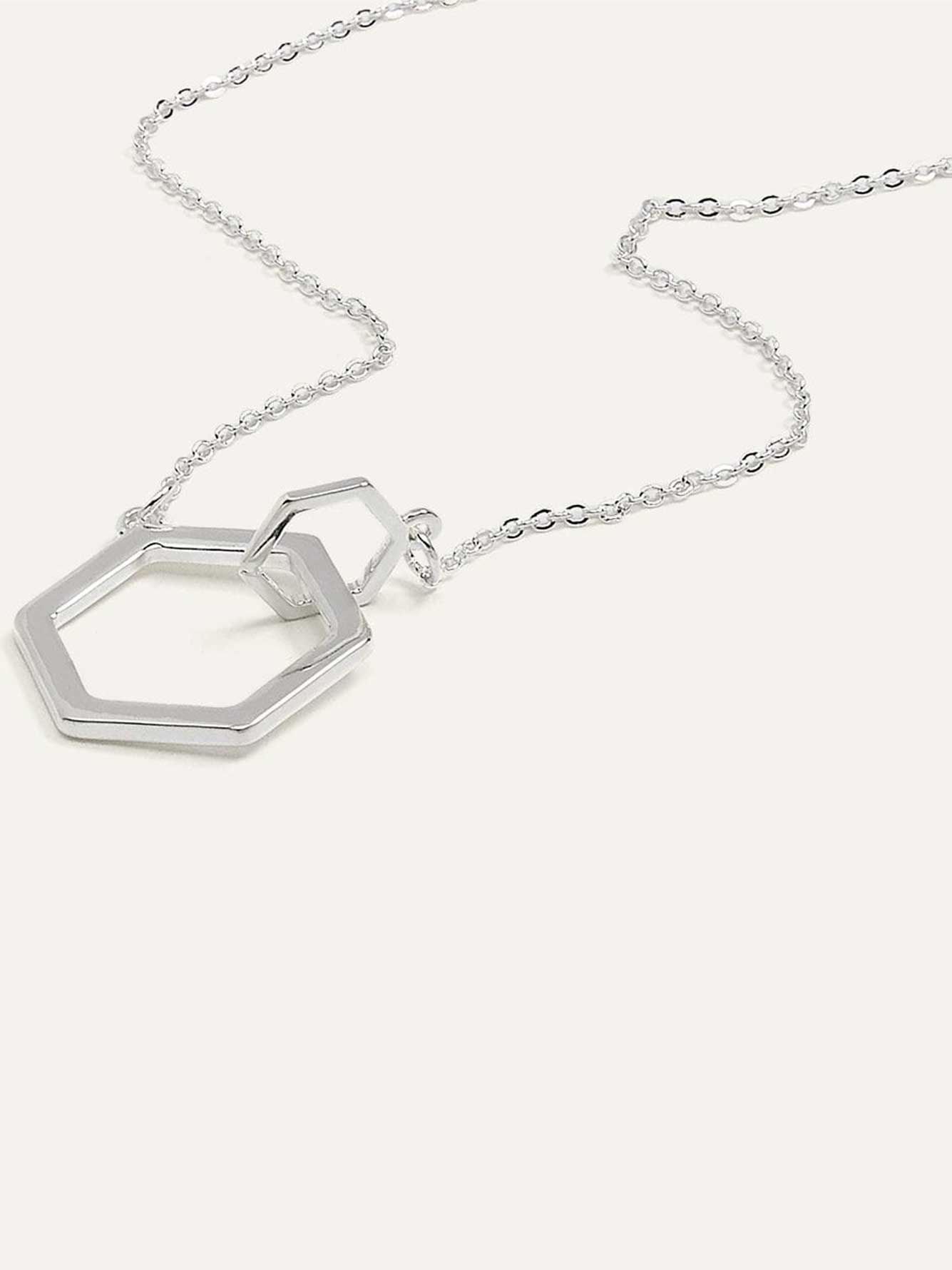 Short Geo Pendant Necklace