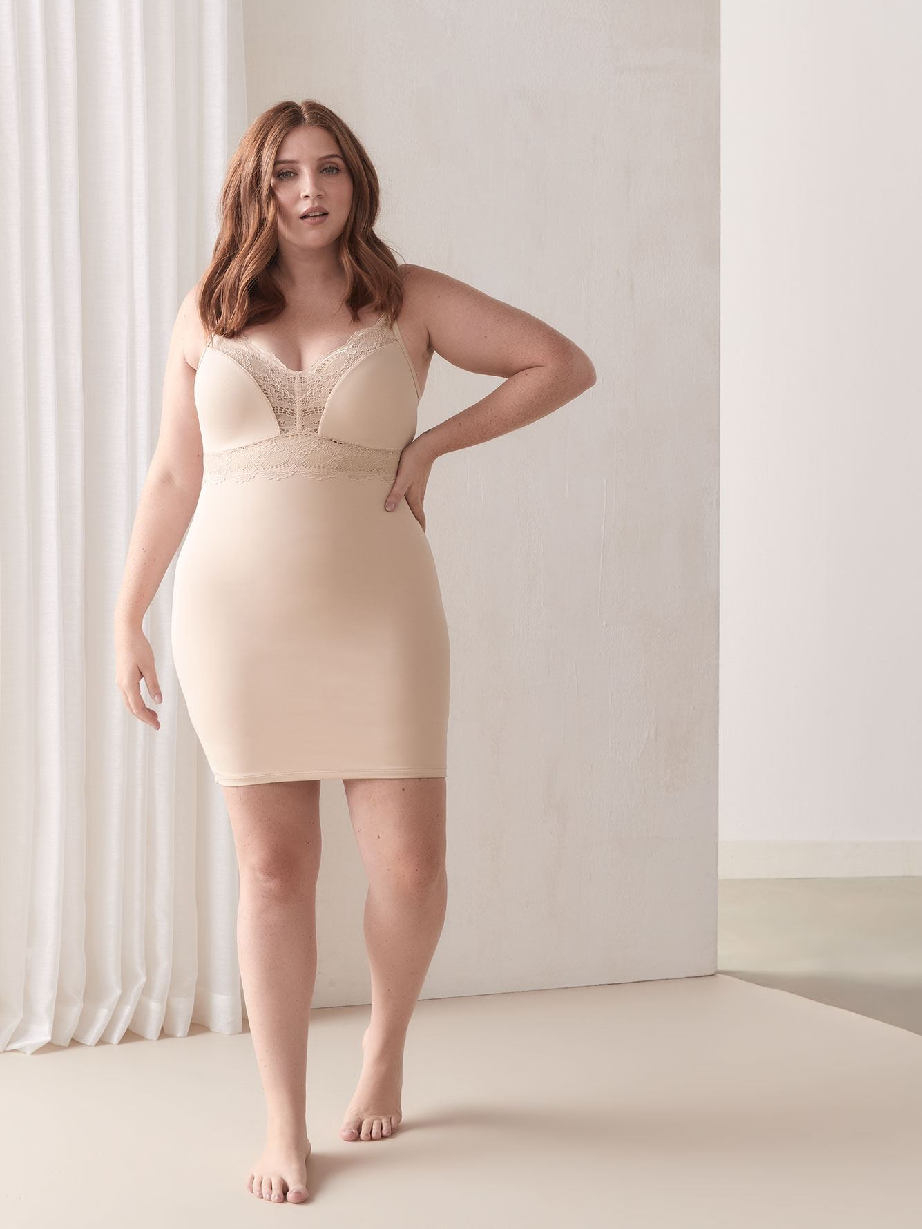 Adjustable Shapewear Slip Dress - Addition Elle