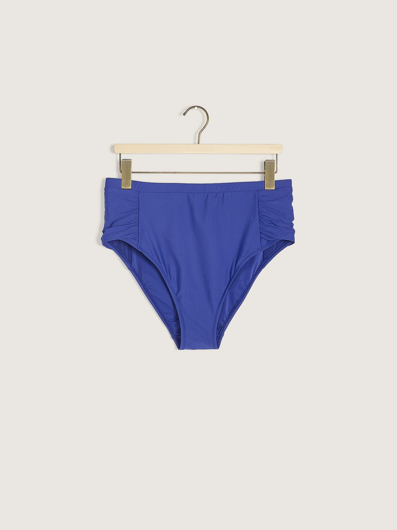 Textured High Waist Swim Brief - Addition Elle