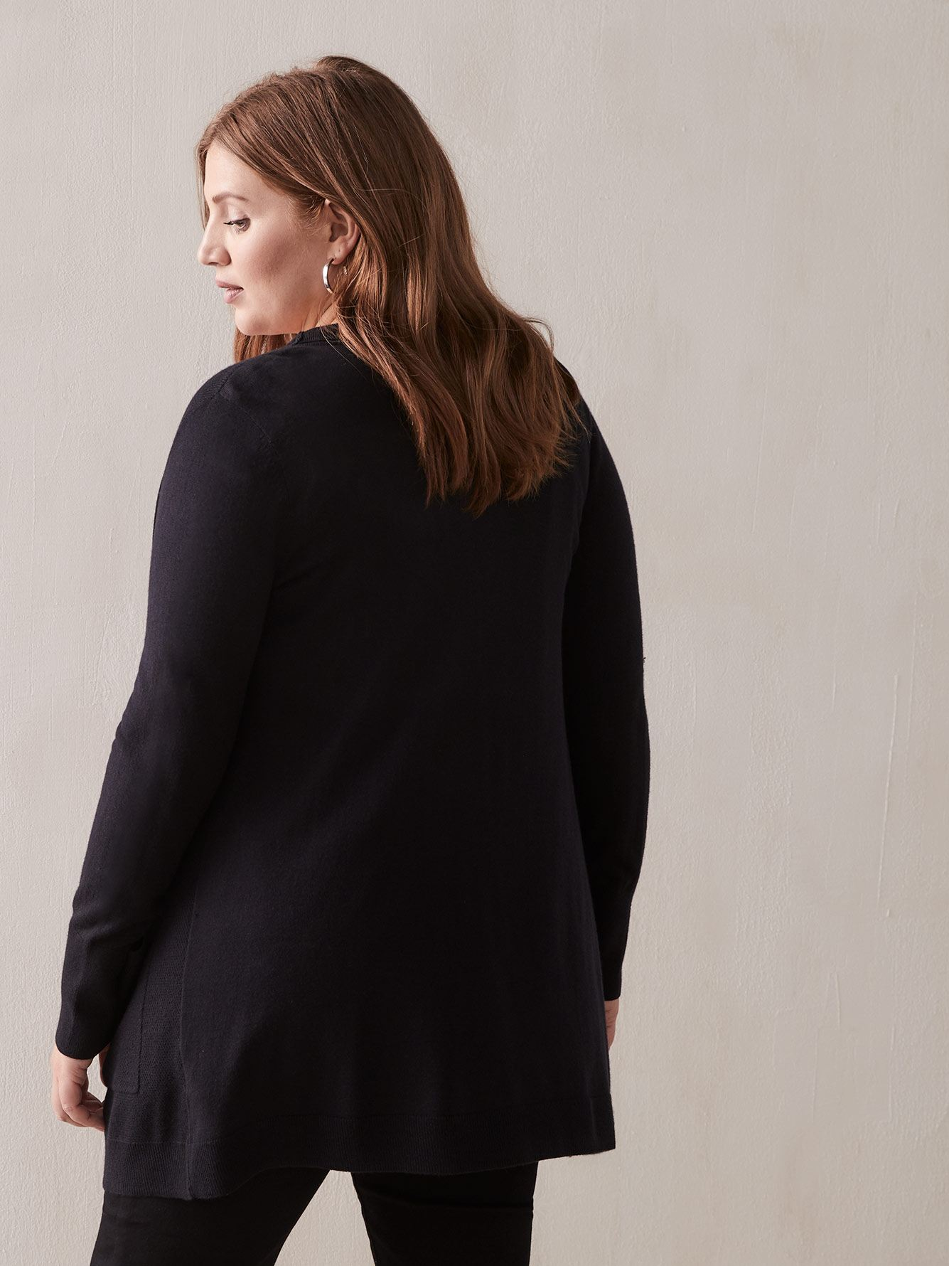 Black Cardigan Sweater - Addition Elle
