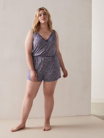 Sleeveless Dotted Romper - Déesse Collection