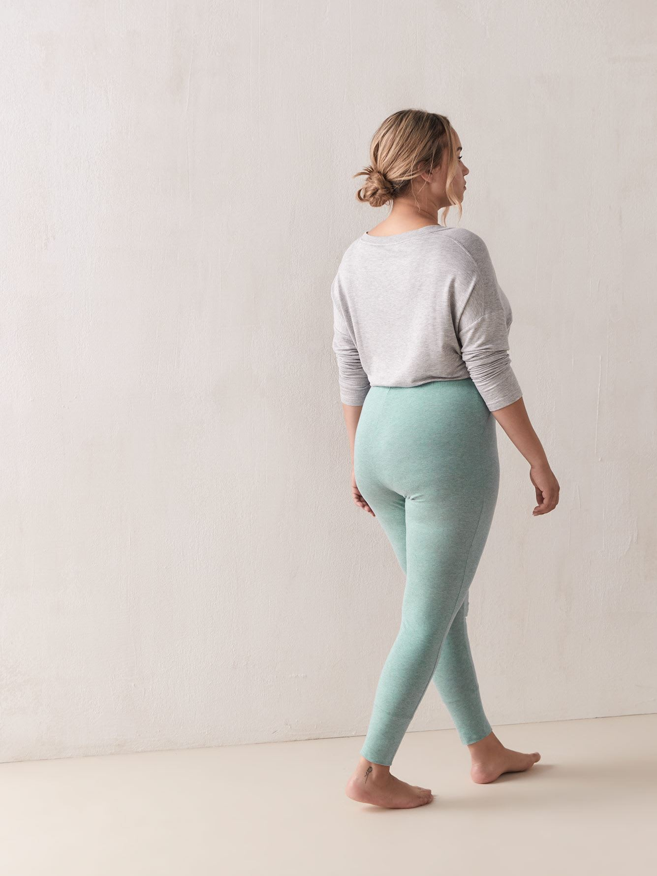 Heathered Cotton PJ Legging - Addition Elle