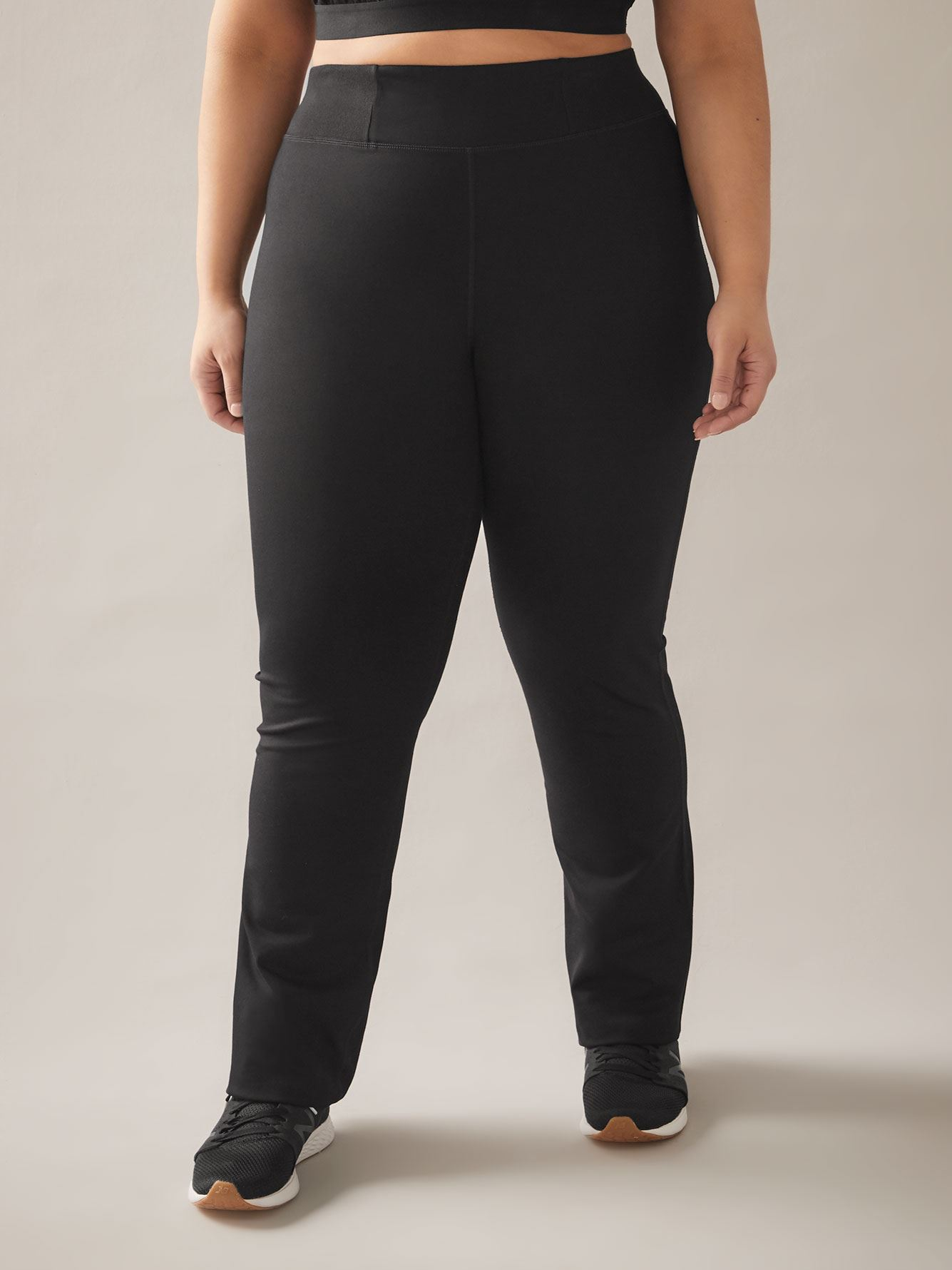 Petite, Solid Basic Yoga Ankle Pant - ActiveZone