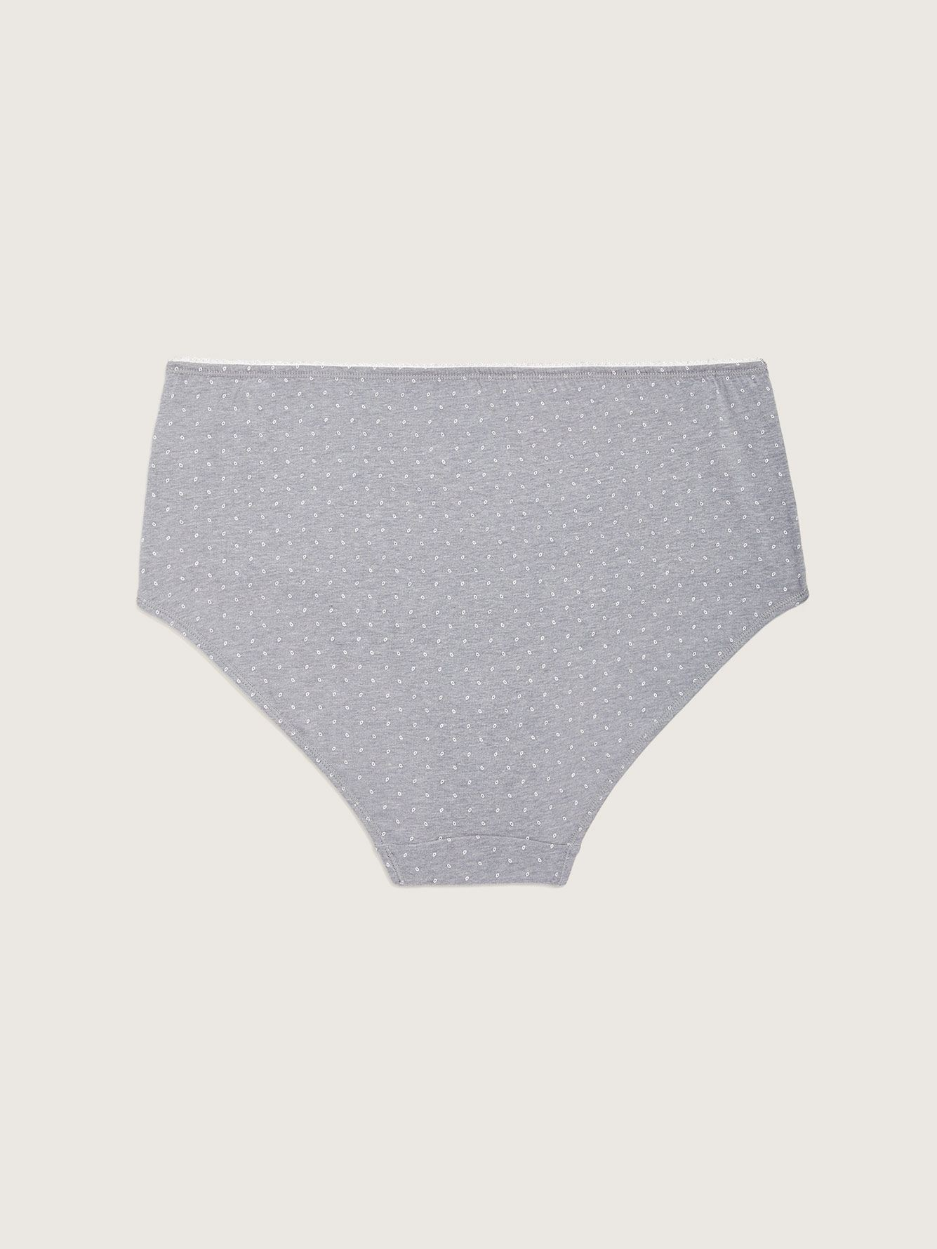 Printed Brief Panty with Satin Bow - ti Voglio