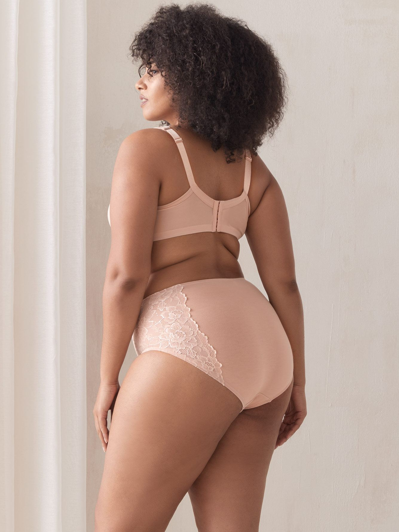 Shapewear Brief Panty with Lace Inserts - Addition Elle