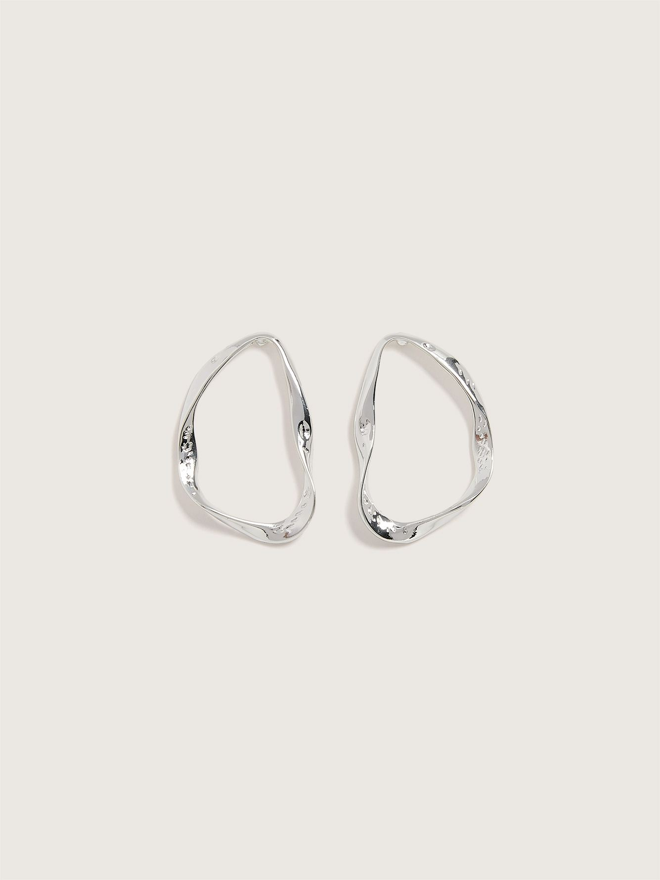 Silver Plated Openwork Earrings - Addition Elle