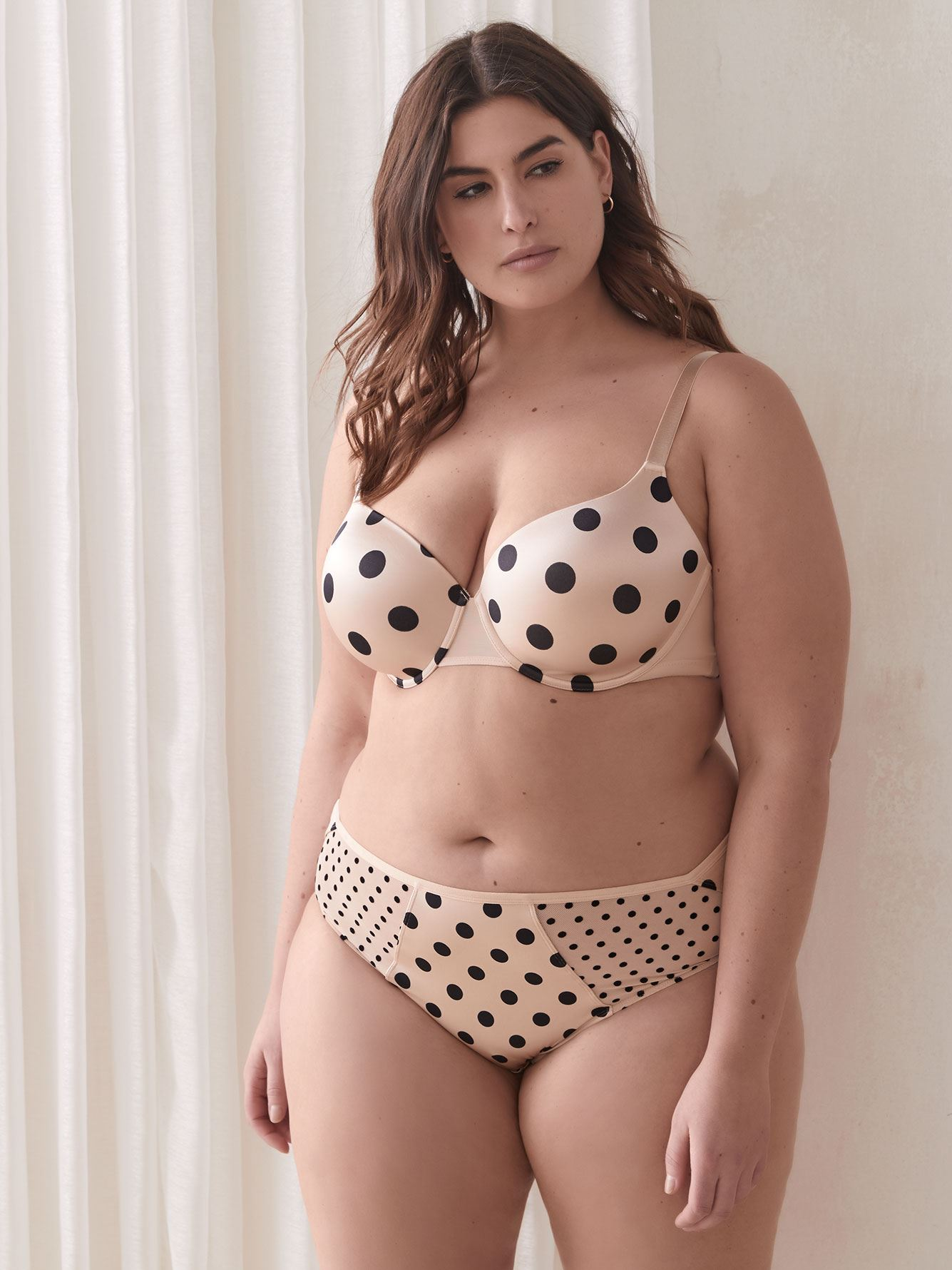 Soutien-gorge t-shirt à pois, bonnets G et H - Ashley Graham