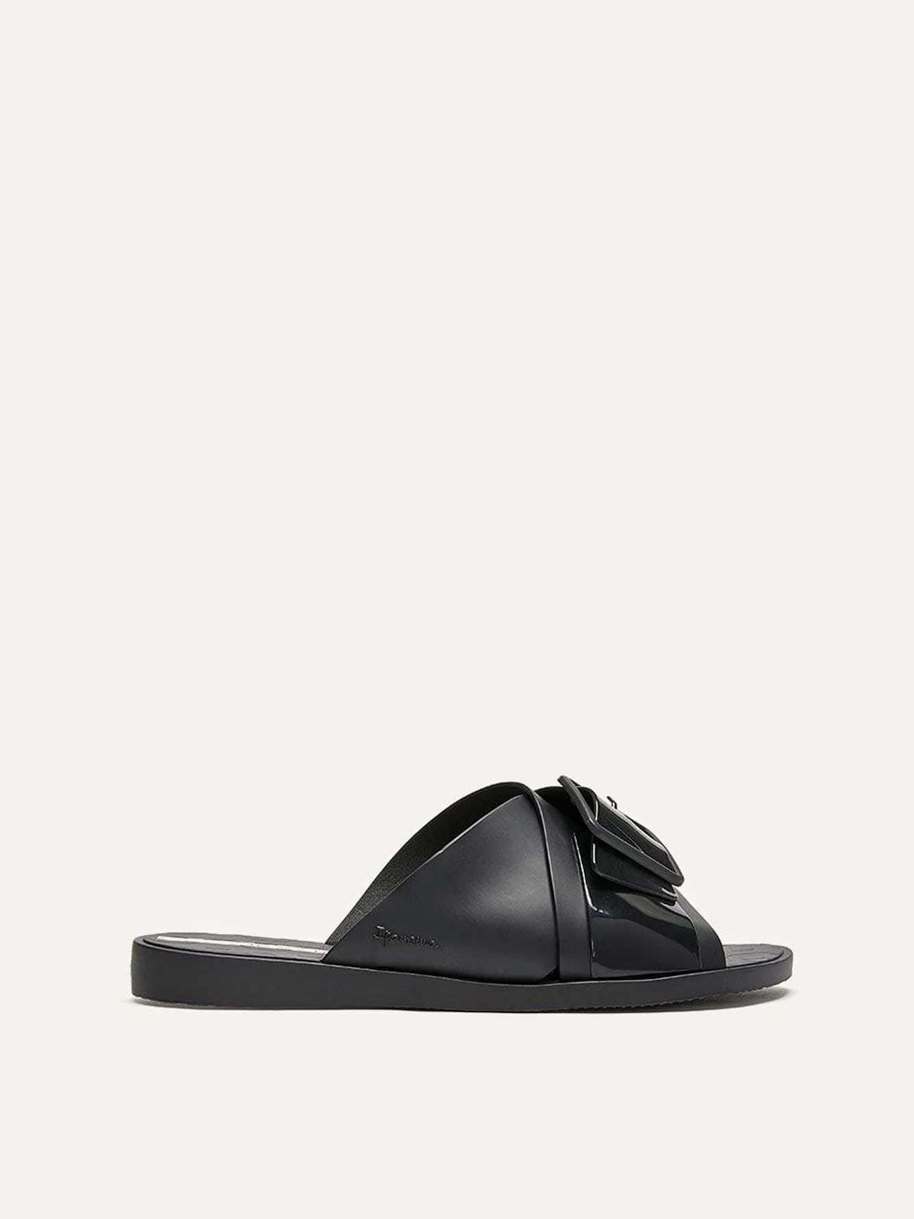 Wide Slide In Sandals with Buckle - Ipanema