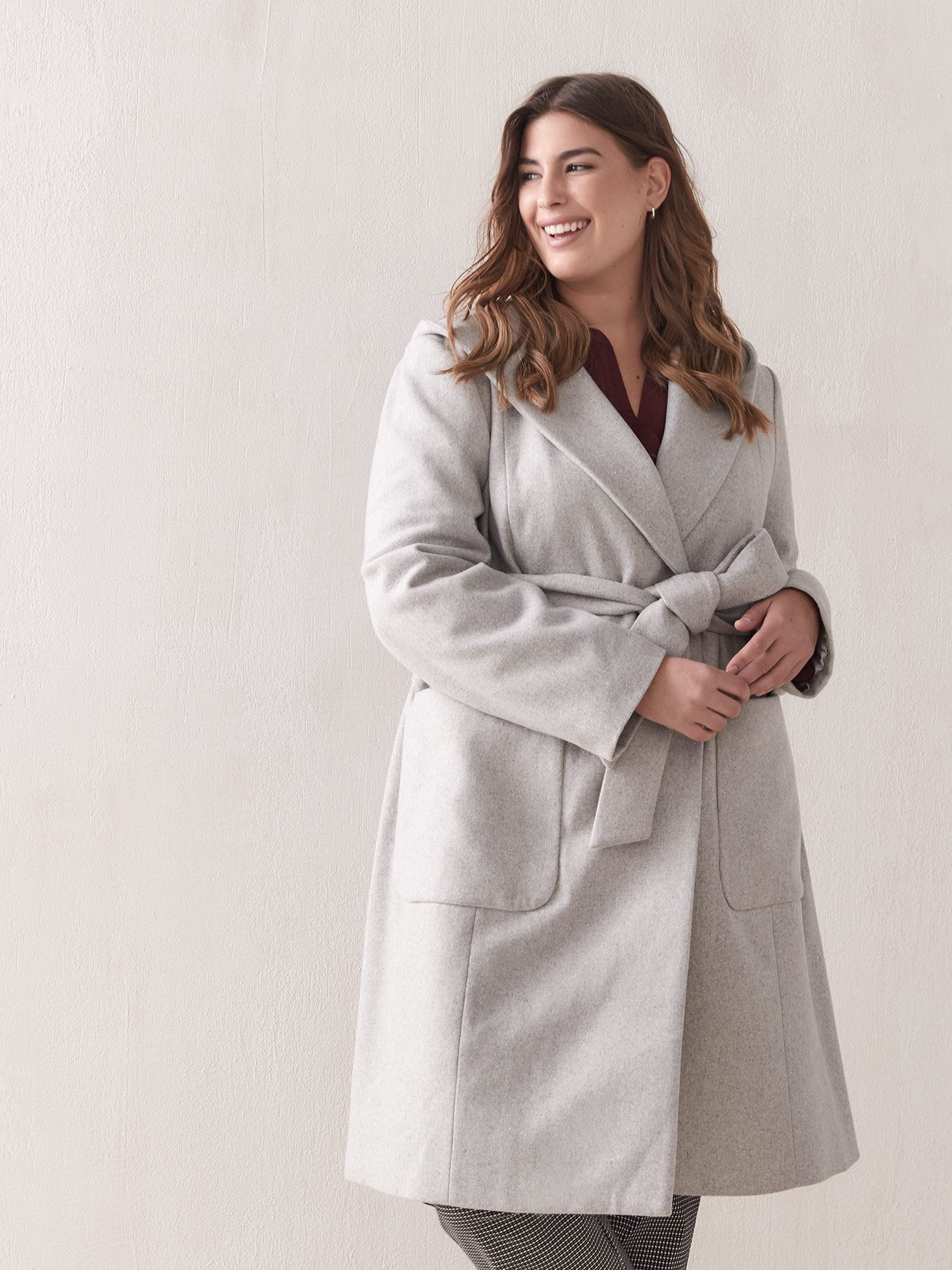 Hooded Wrap Coat - In Every Story