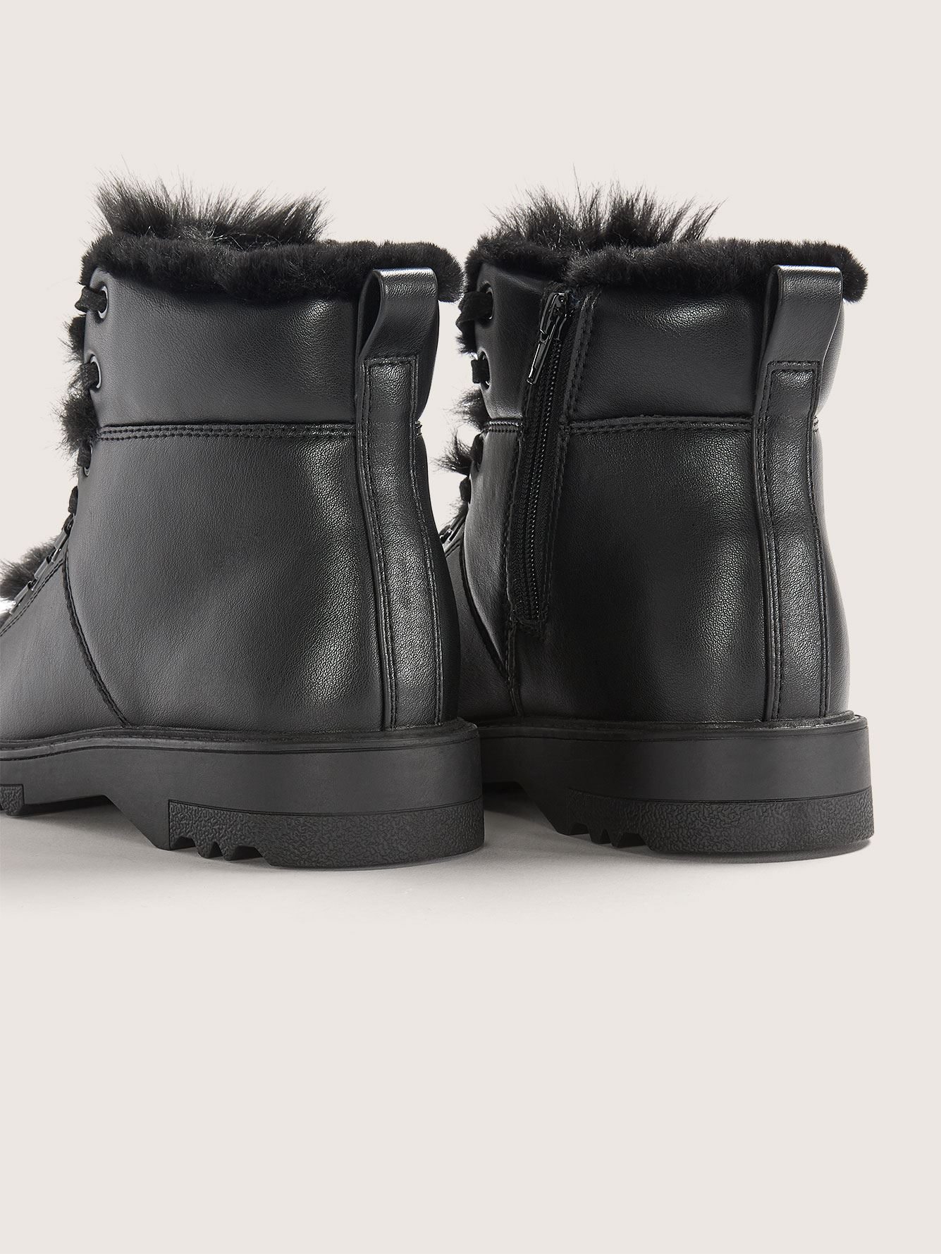 Wide Waterproof Winter Boot with Faux Fur Trim - Addition Elle