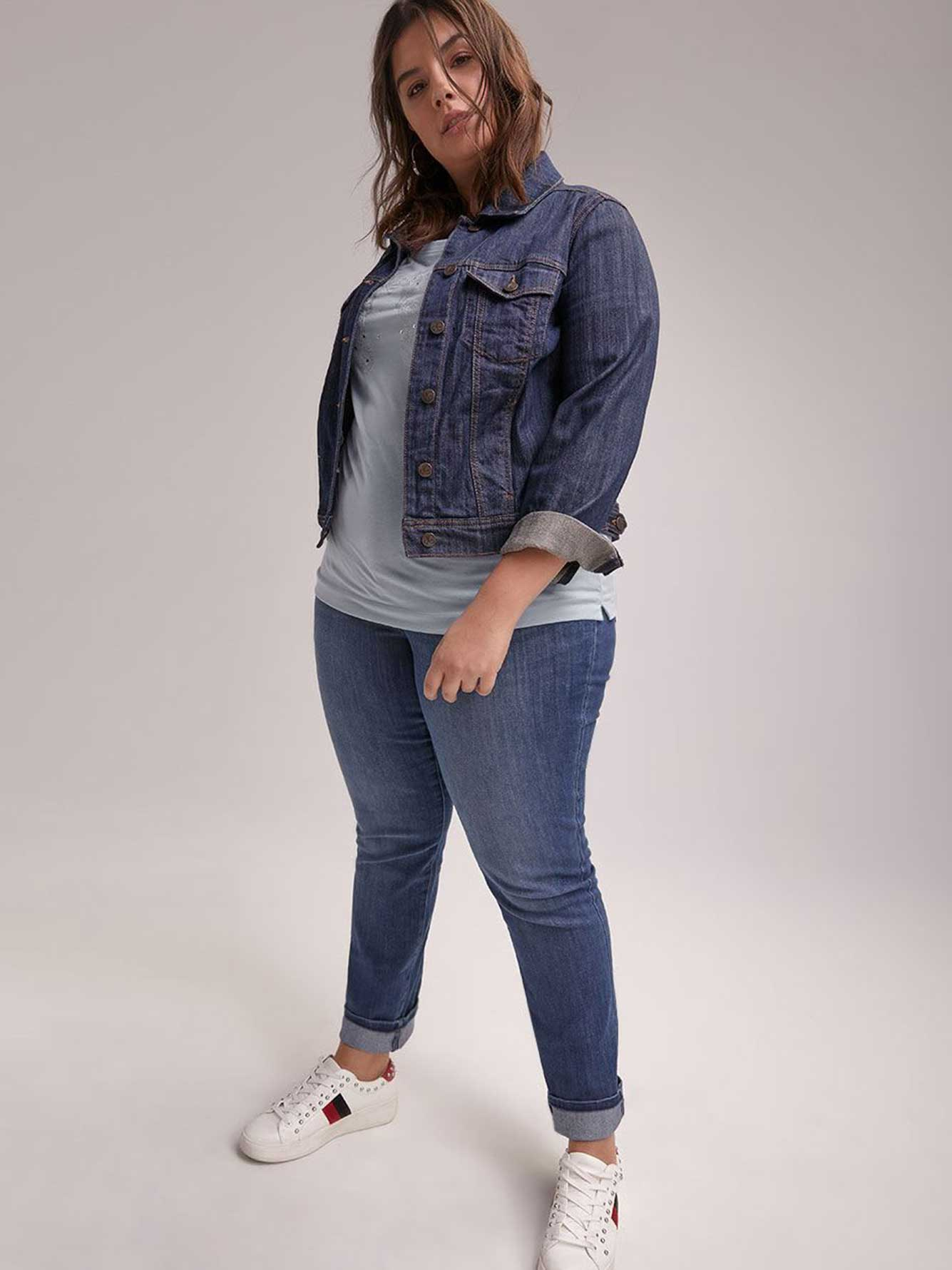 ONLINE ONLY - Tall Slightly Curvy Straight Leg Jean - d/C JEANS
