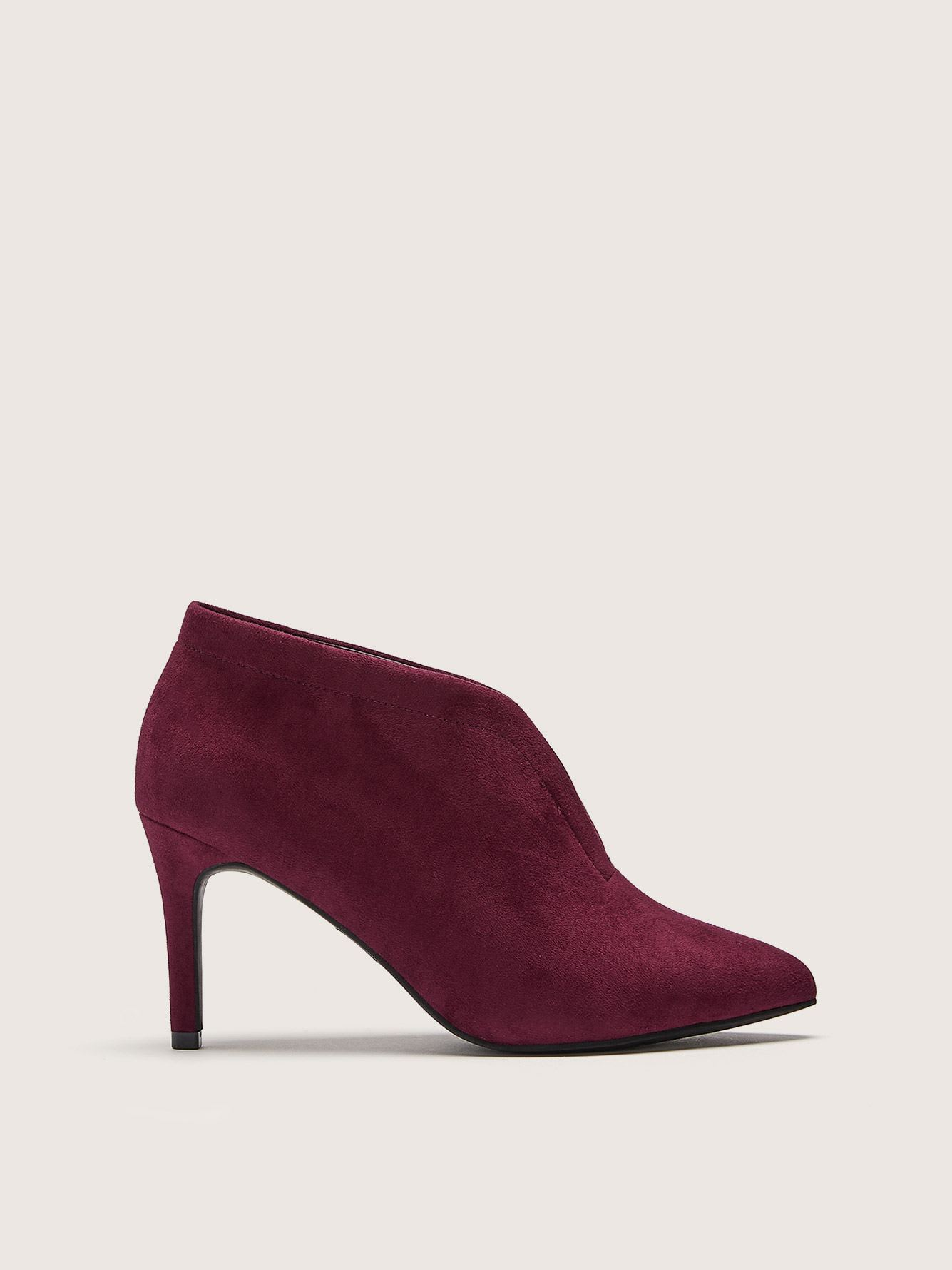 Wide Width Pointy Toe Booties - Addition Elle