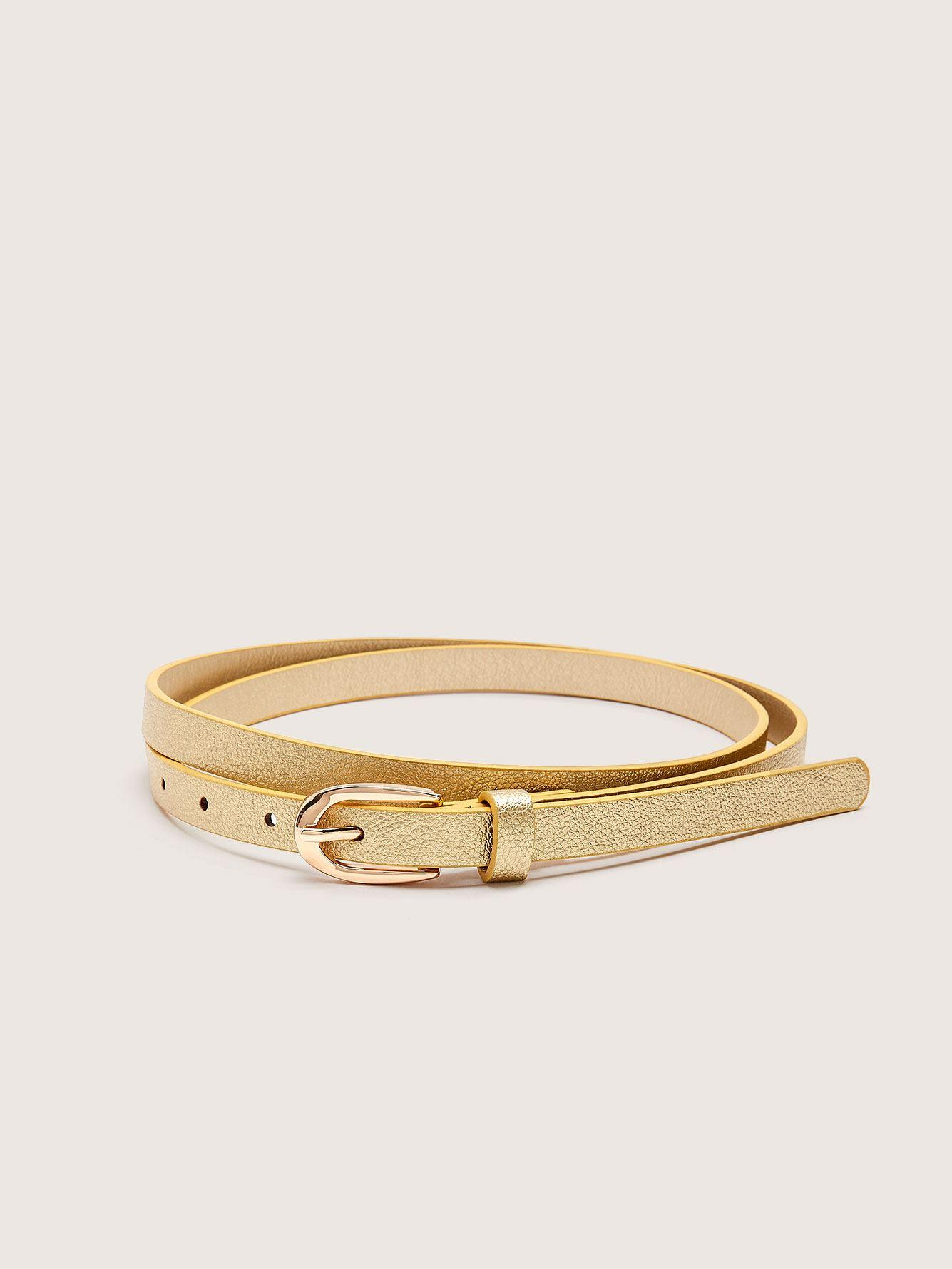 Skinny Faux Leather Belt - Addition Elle