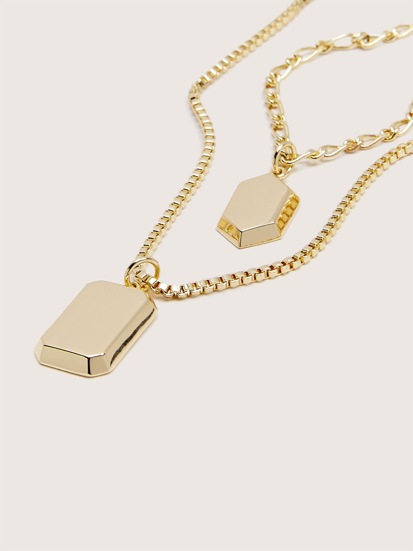 14K Plated Double Row Necklace - Addition Elle