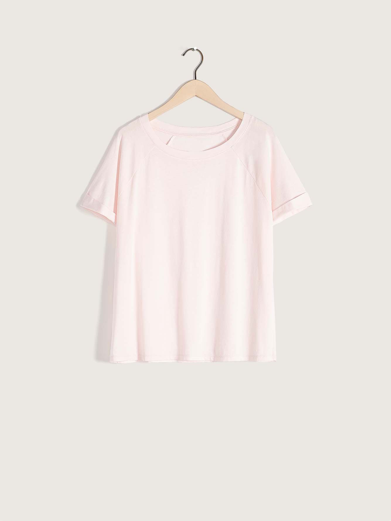 Raglan-Sleeve Pajama T-Shirt - Addition Elle