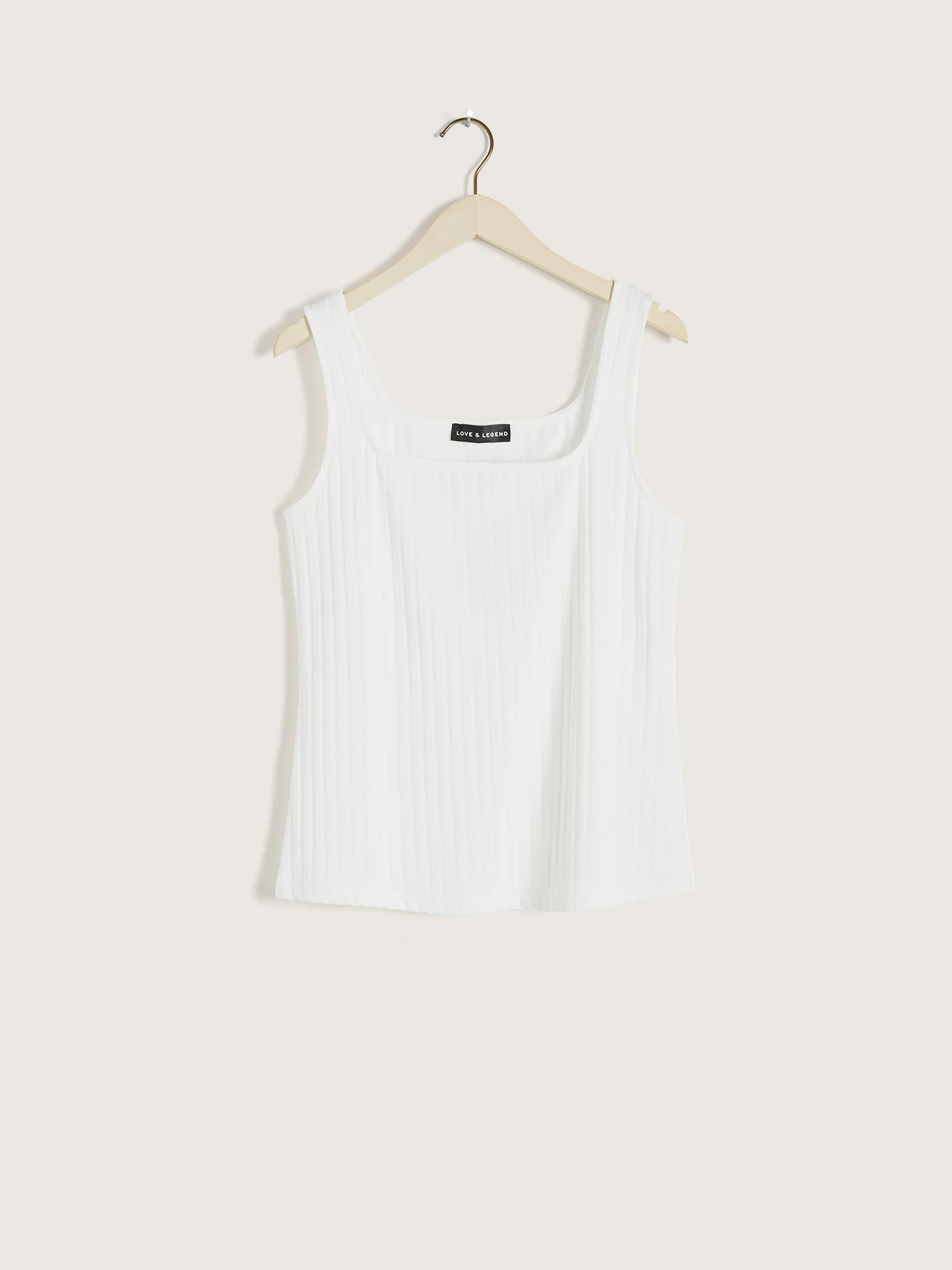 Solid Ribbed Fitted Tank - Love & Legend
