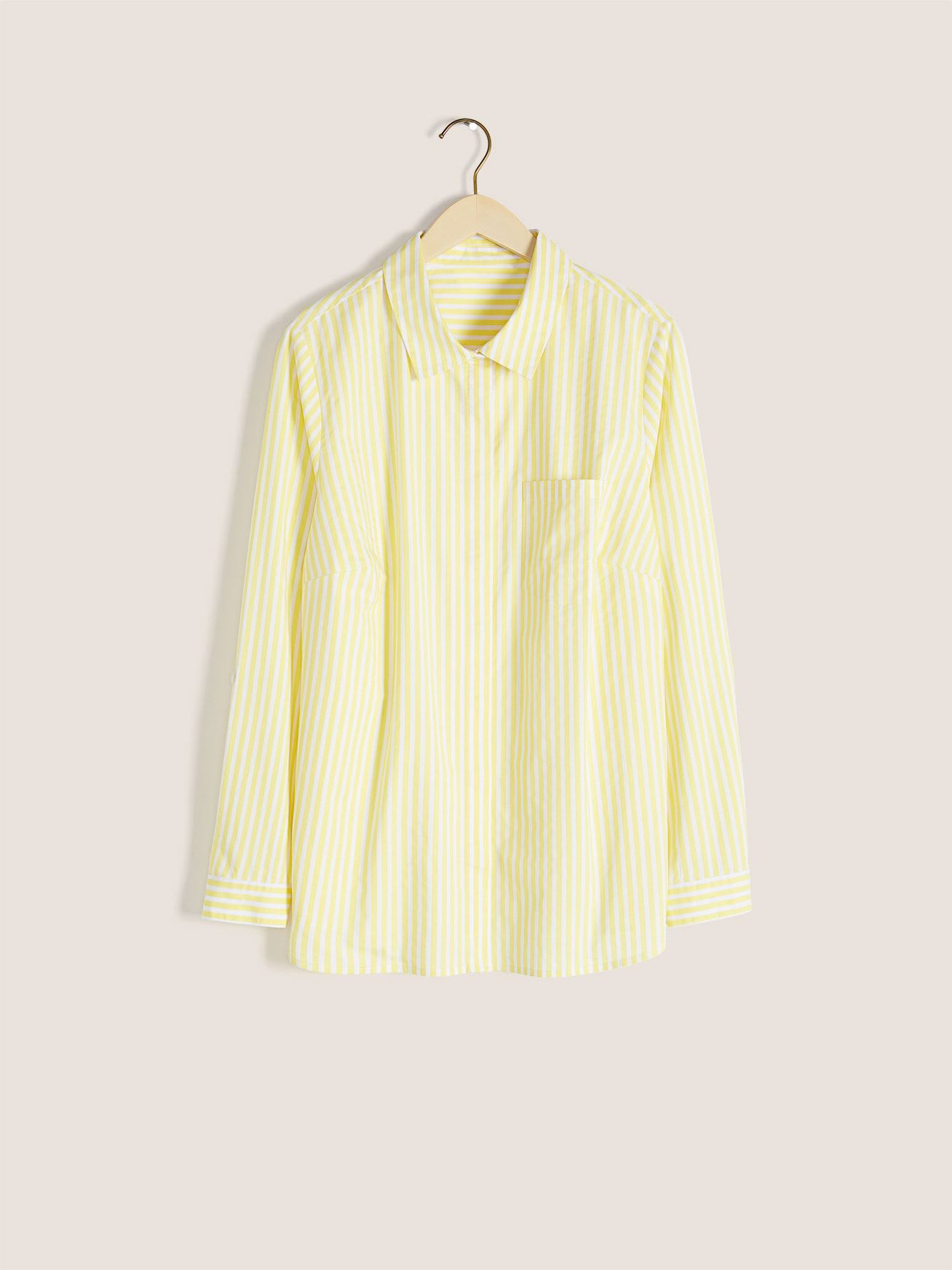 Striped Structured Poplin Blouse - In Every Story