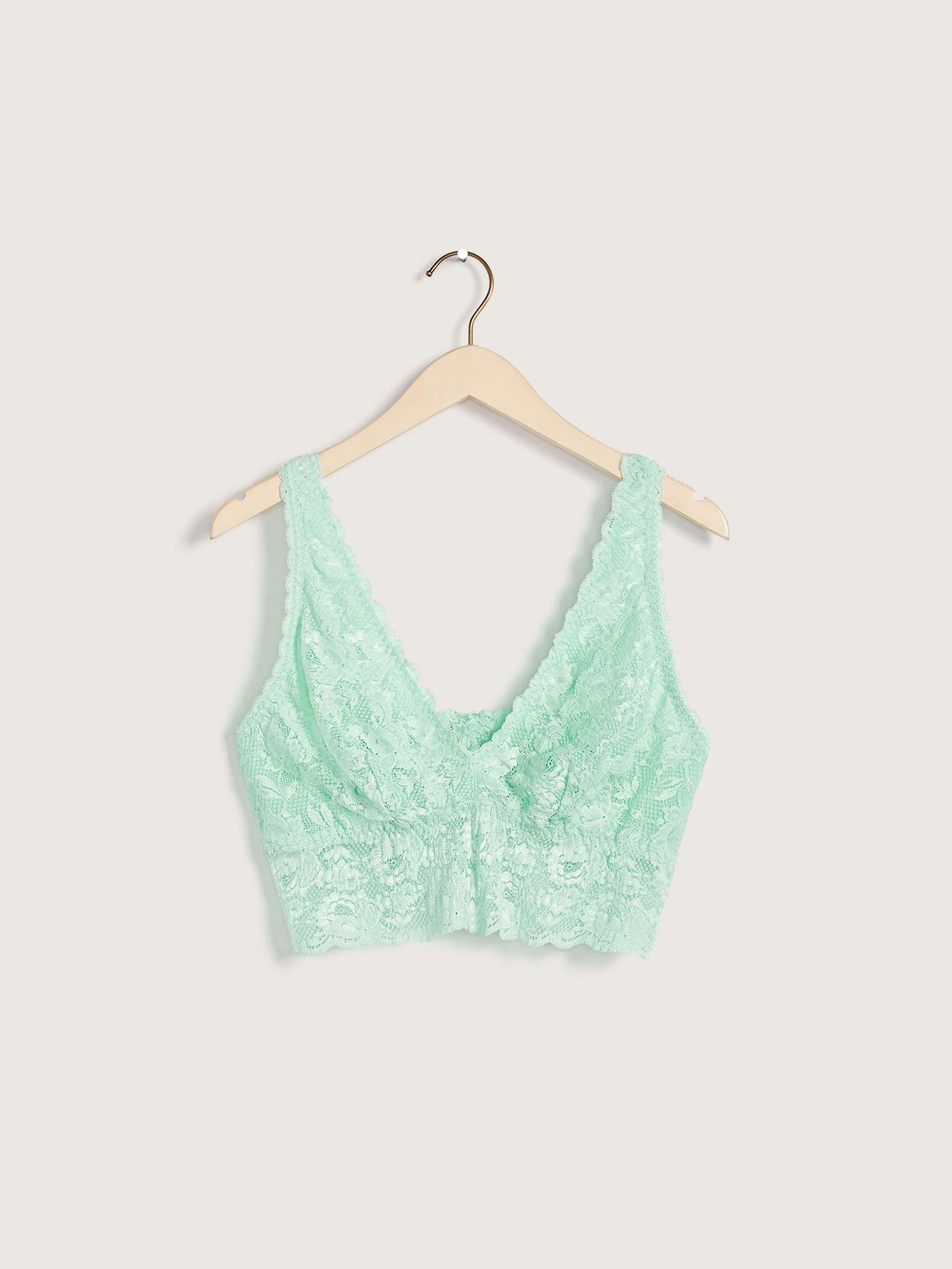 Never Say Never Plunge Lace Bralette - Cosabella