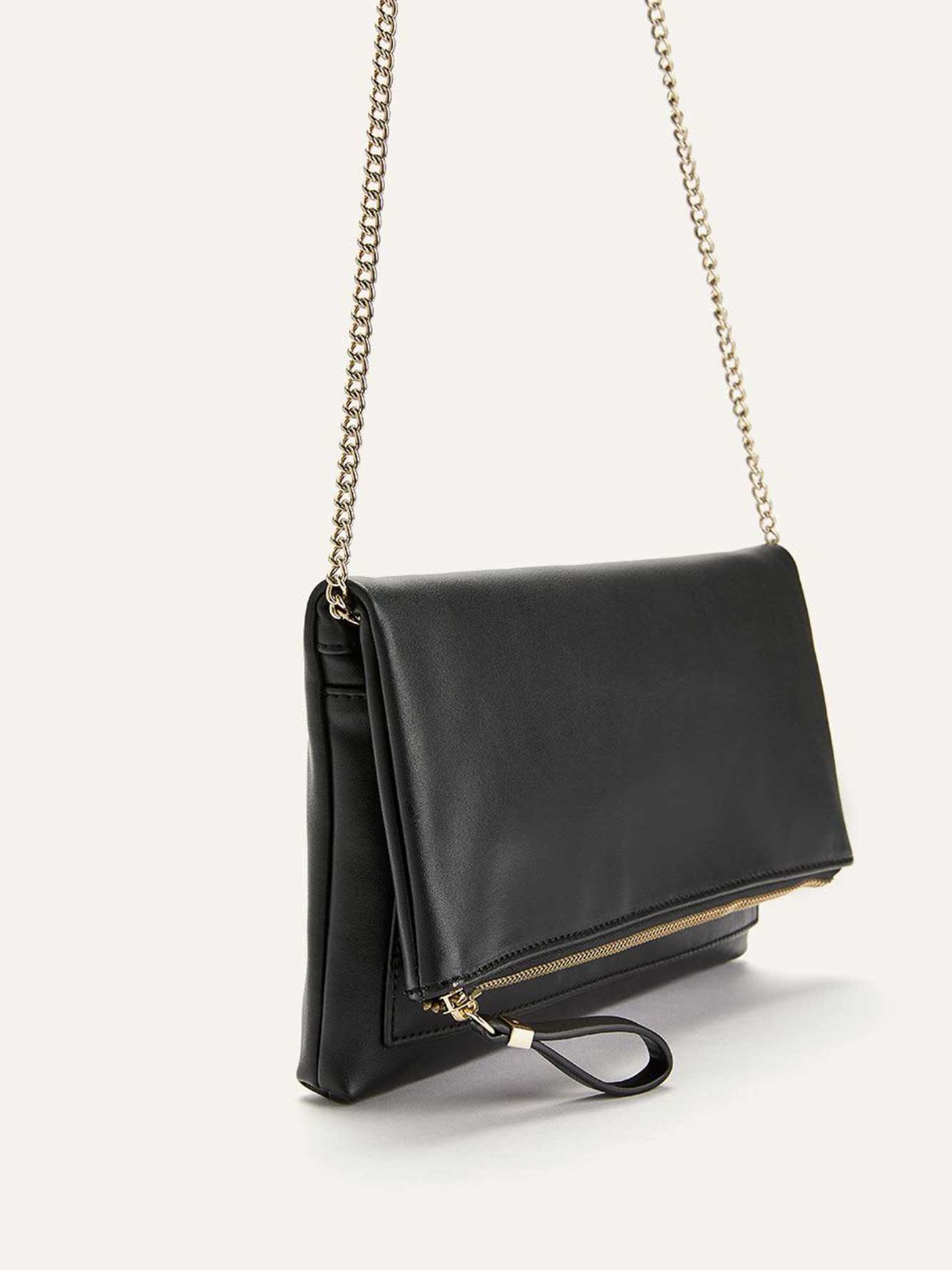 Foldover Clutch with Zipper - Addition Elle