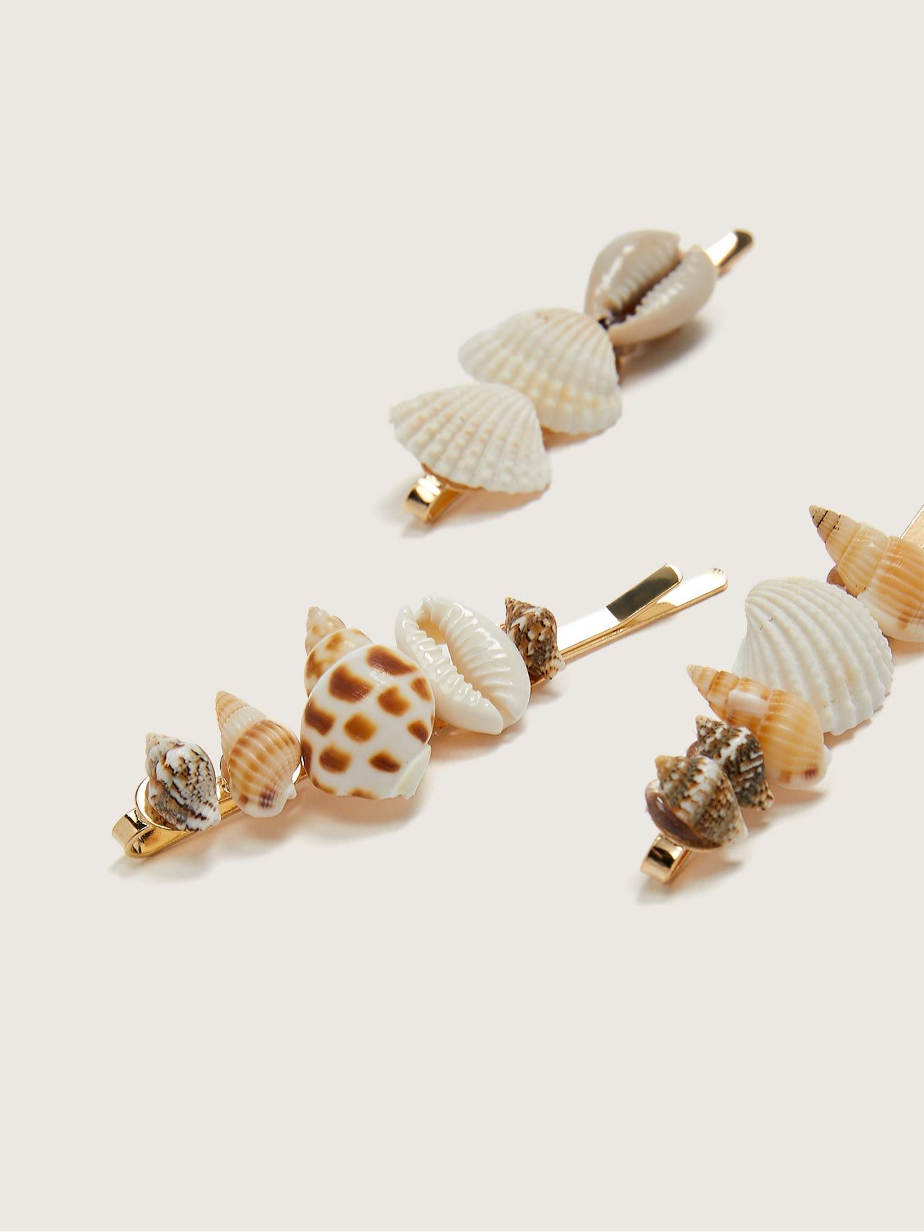 Seashell Hair Pins, 3-Pack - Addition Elle