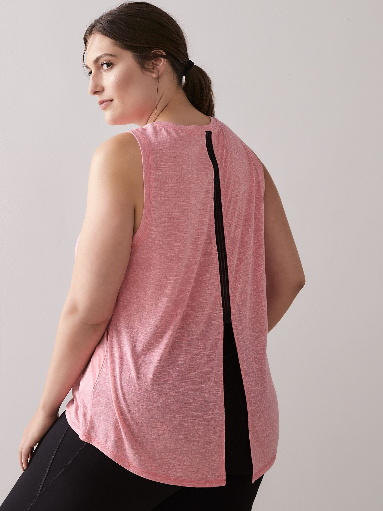 Tank Top with Elastic Insert at Slit Back