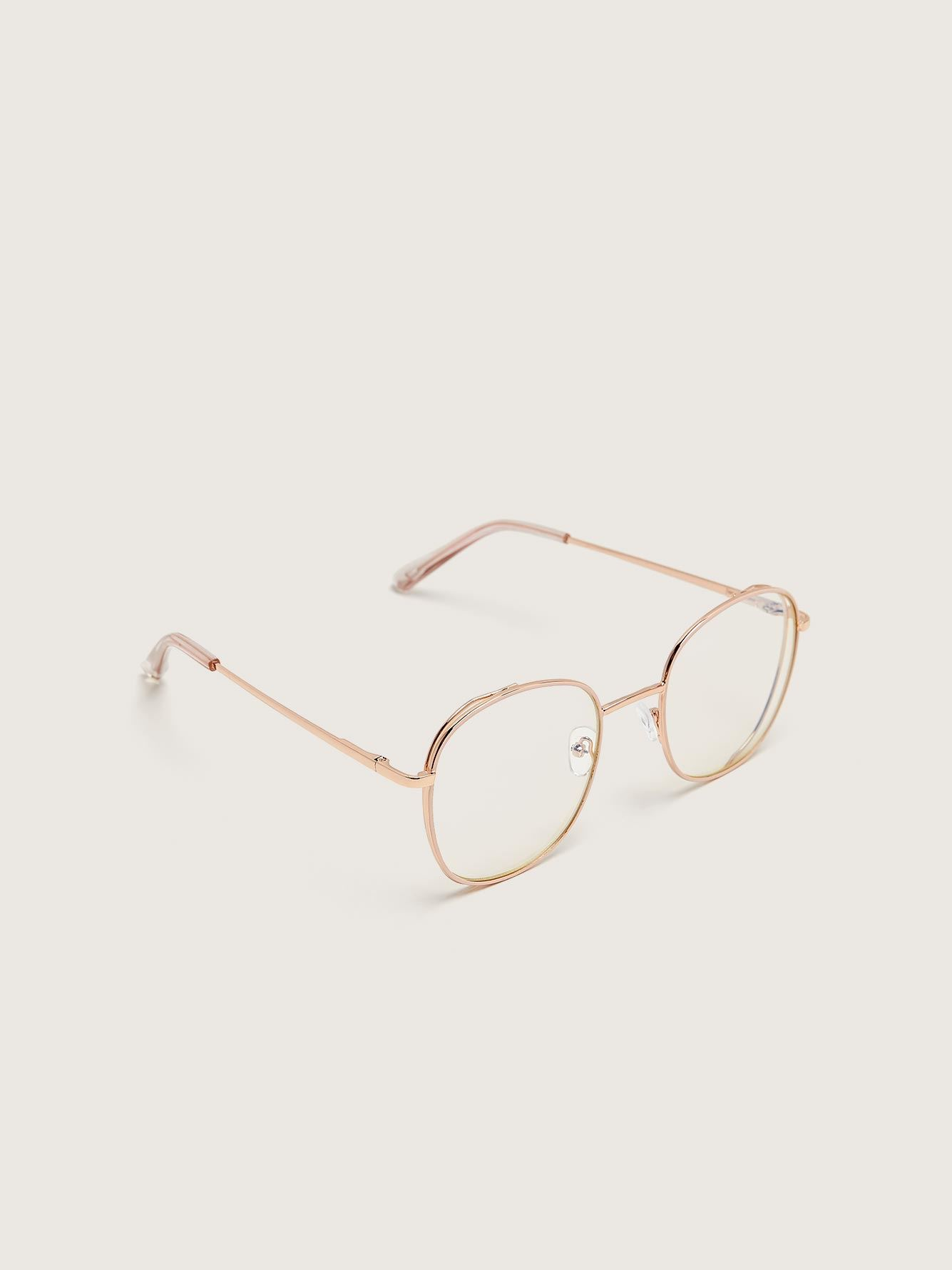 Blue Lens Aviator Glasses - Addition Elle