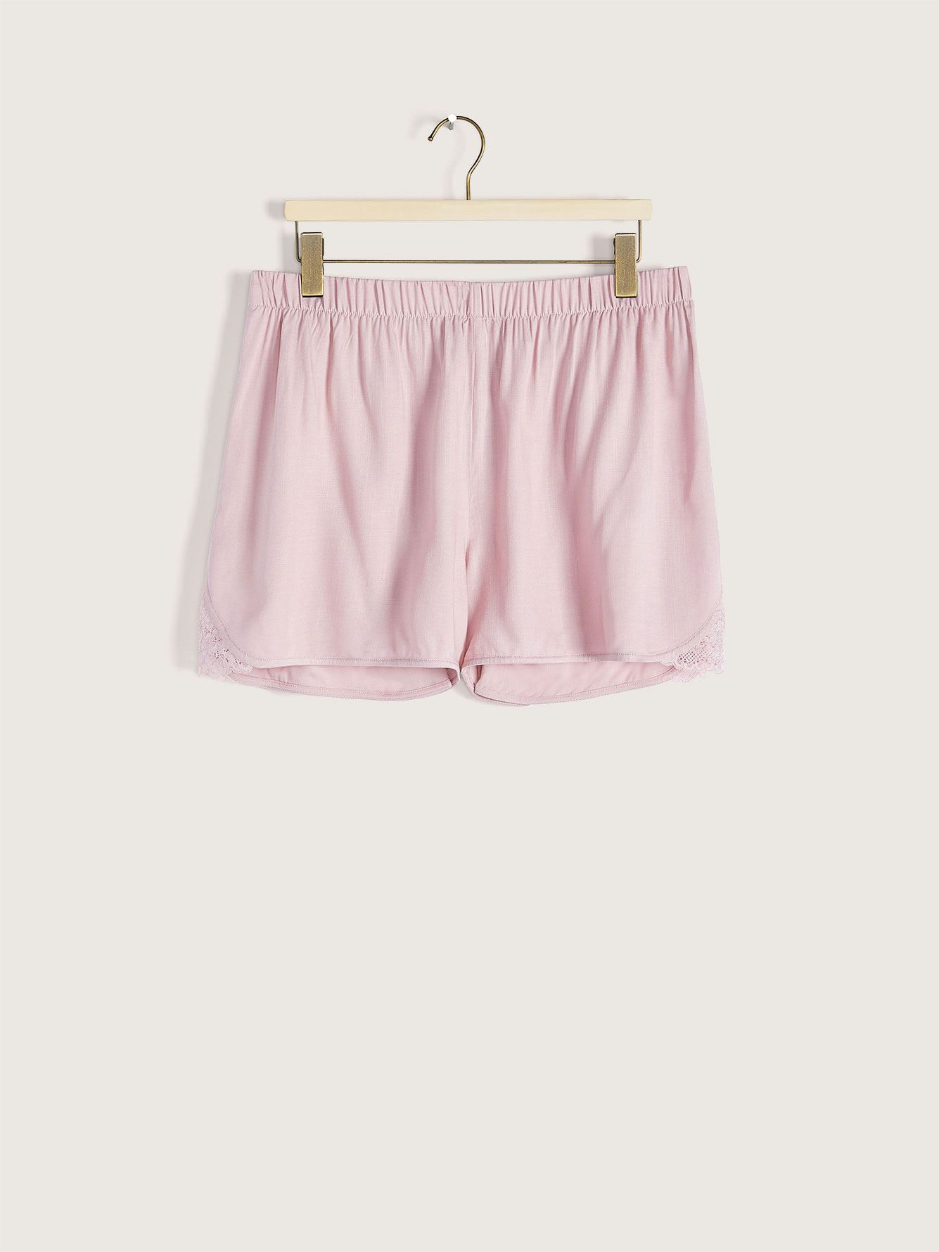 Pajama Short with Lace Trim - Addition Elle