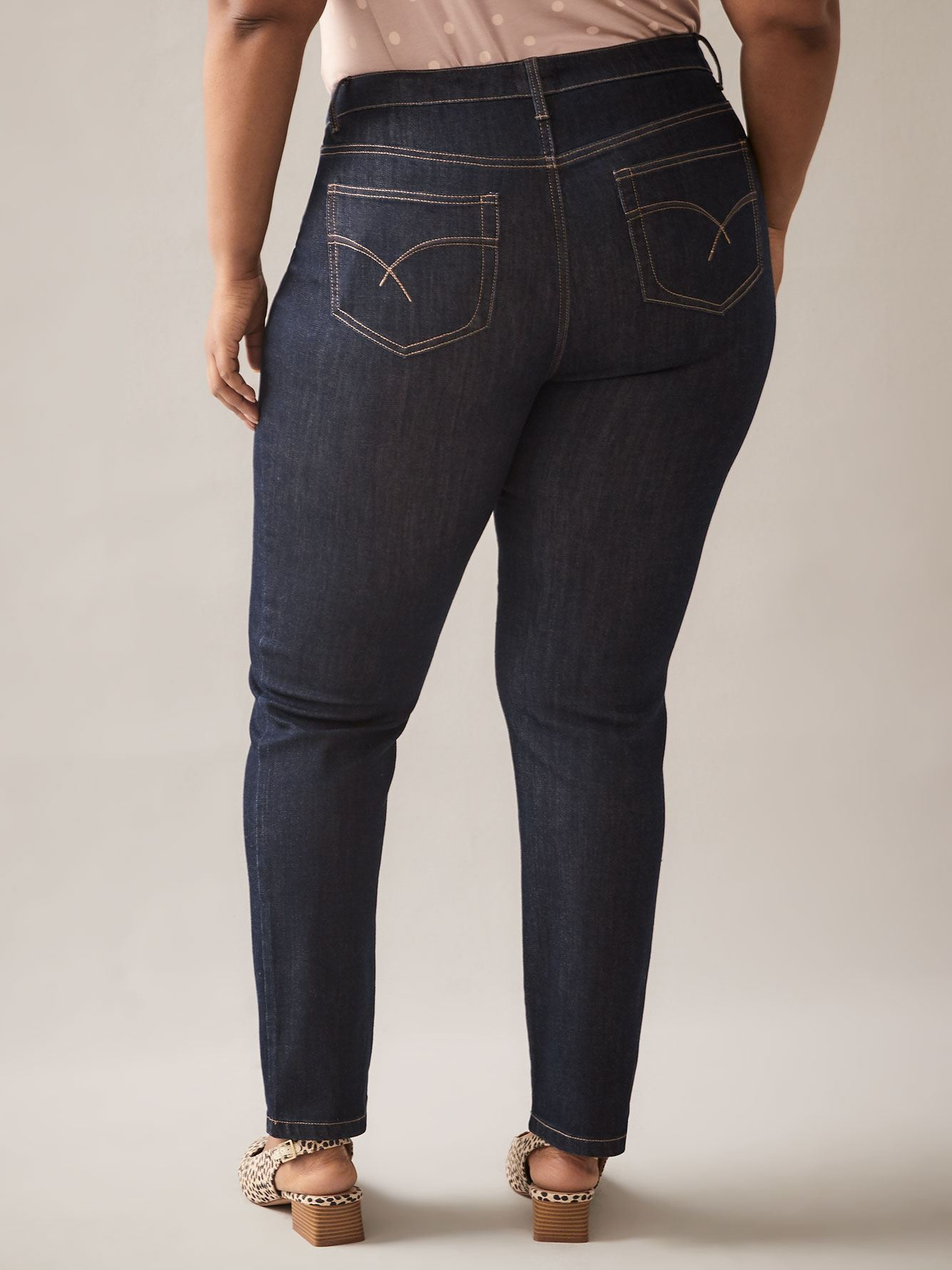 Dark Blue Straight Leg Jean - d/C JEANS