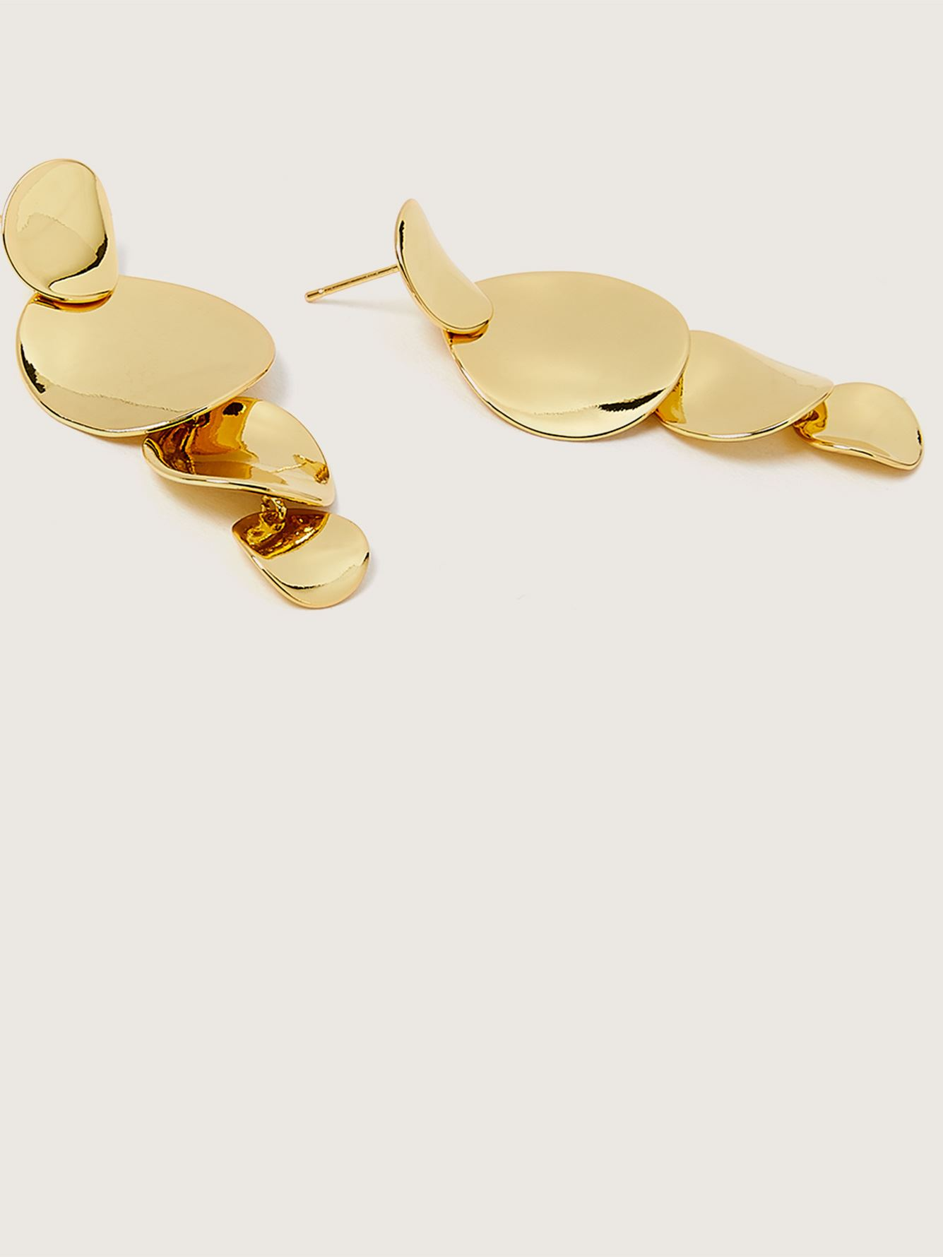 Gold Plated Chandelier Earrings - Addition Elle