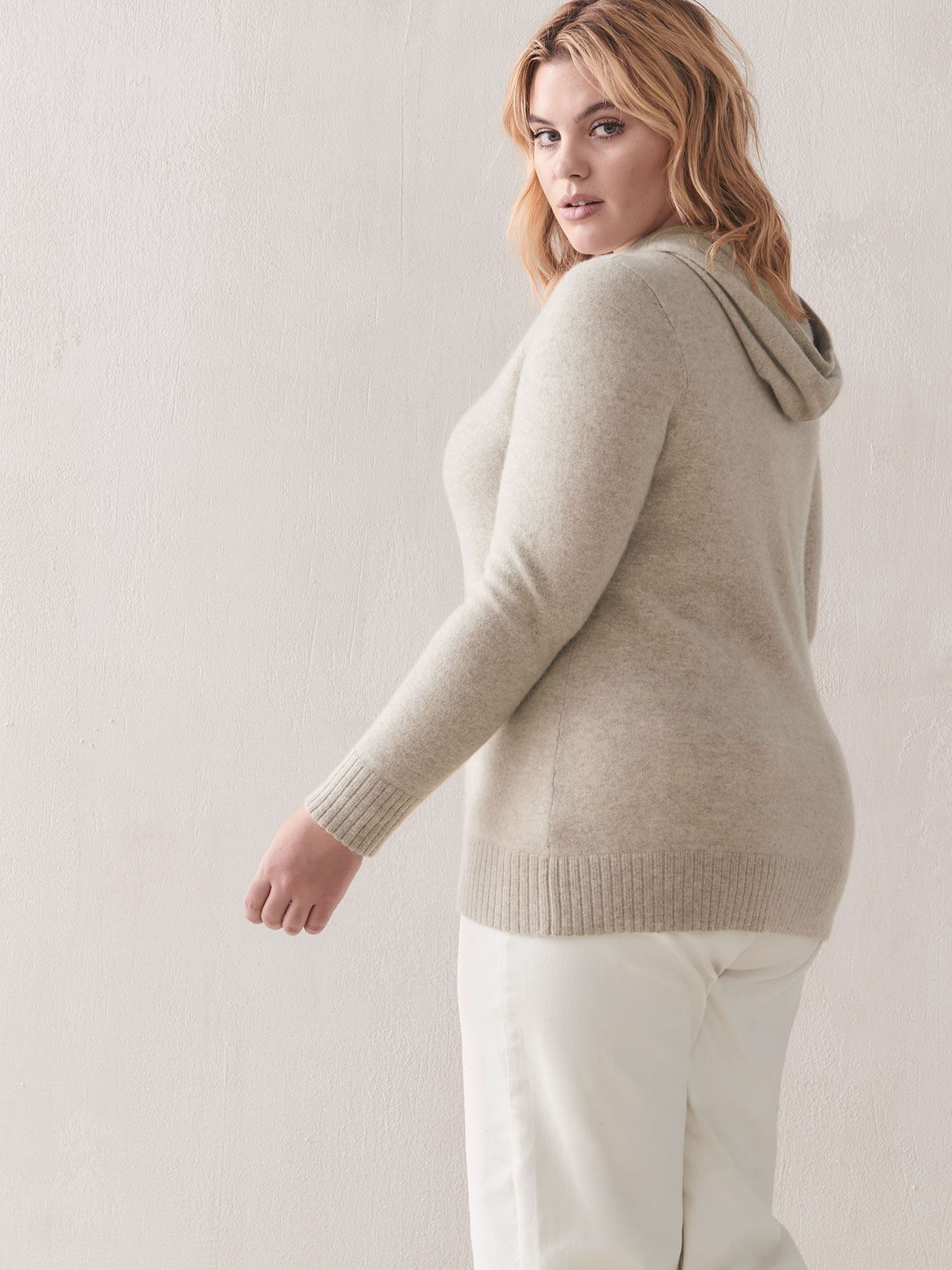 Hooded Cashmere Sweater - Addition Elle