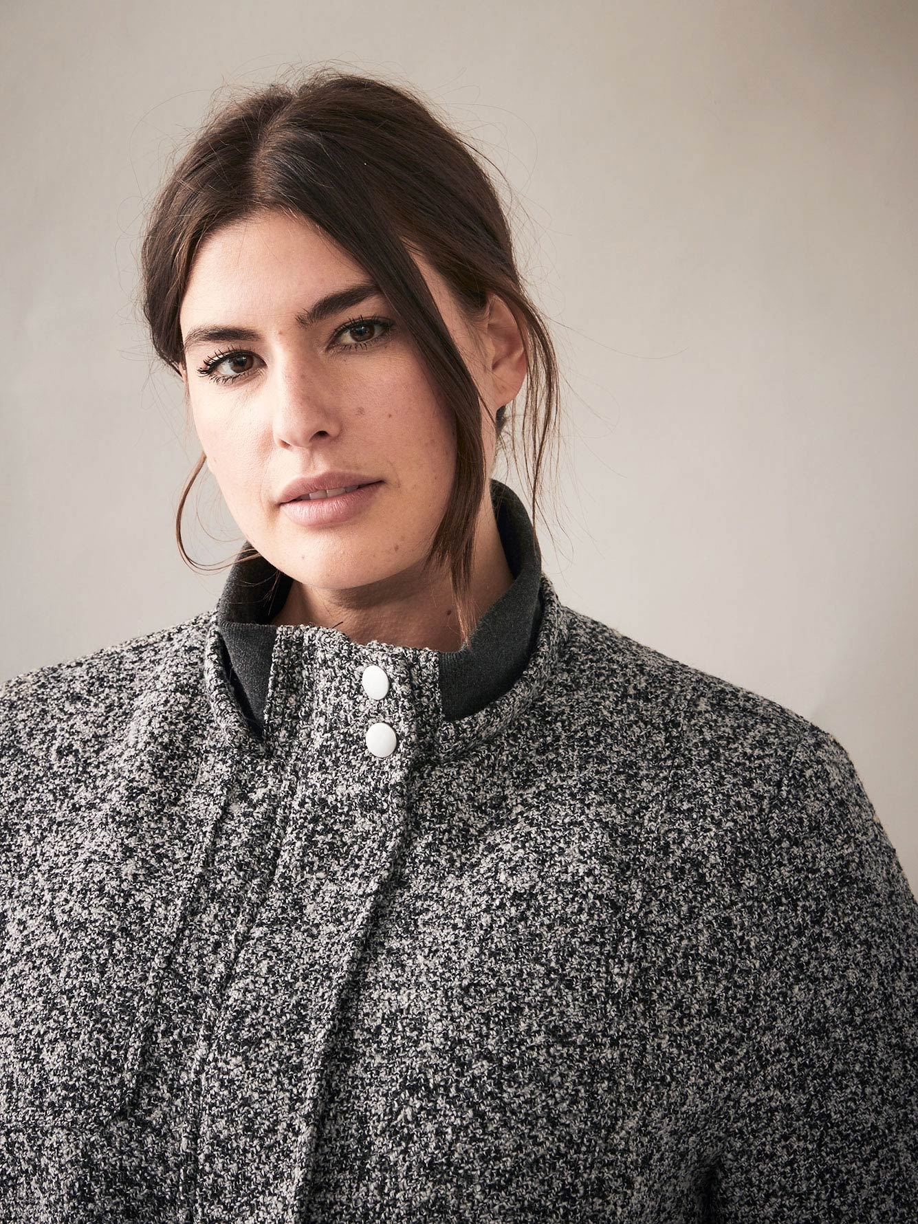Mid-Length Hi-Low Bouclé Jacket - In Every Story