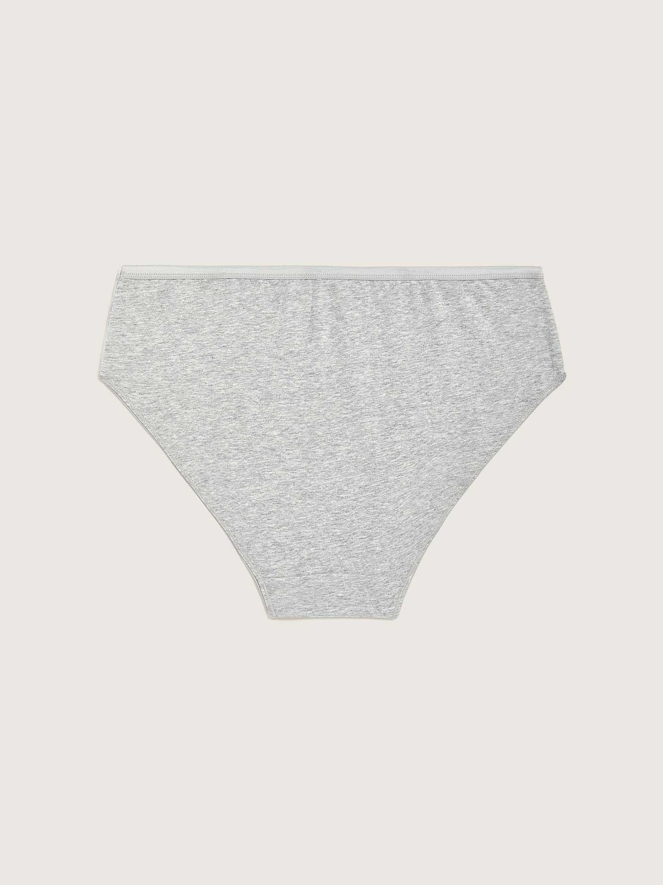 Heathered Cotton High Cut Panty - Addition Elle