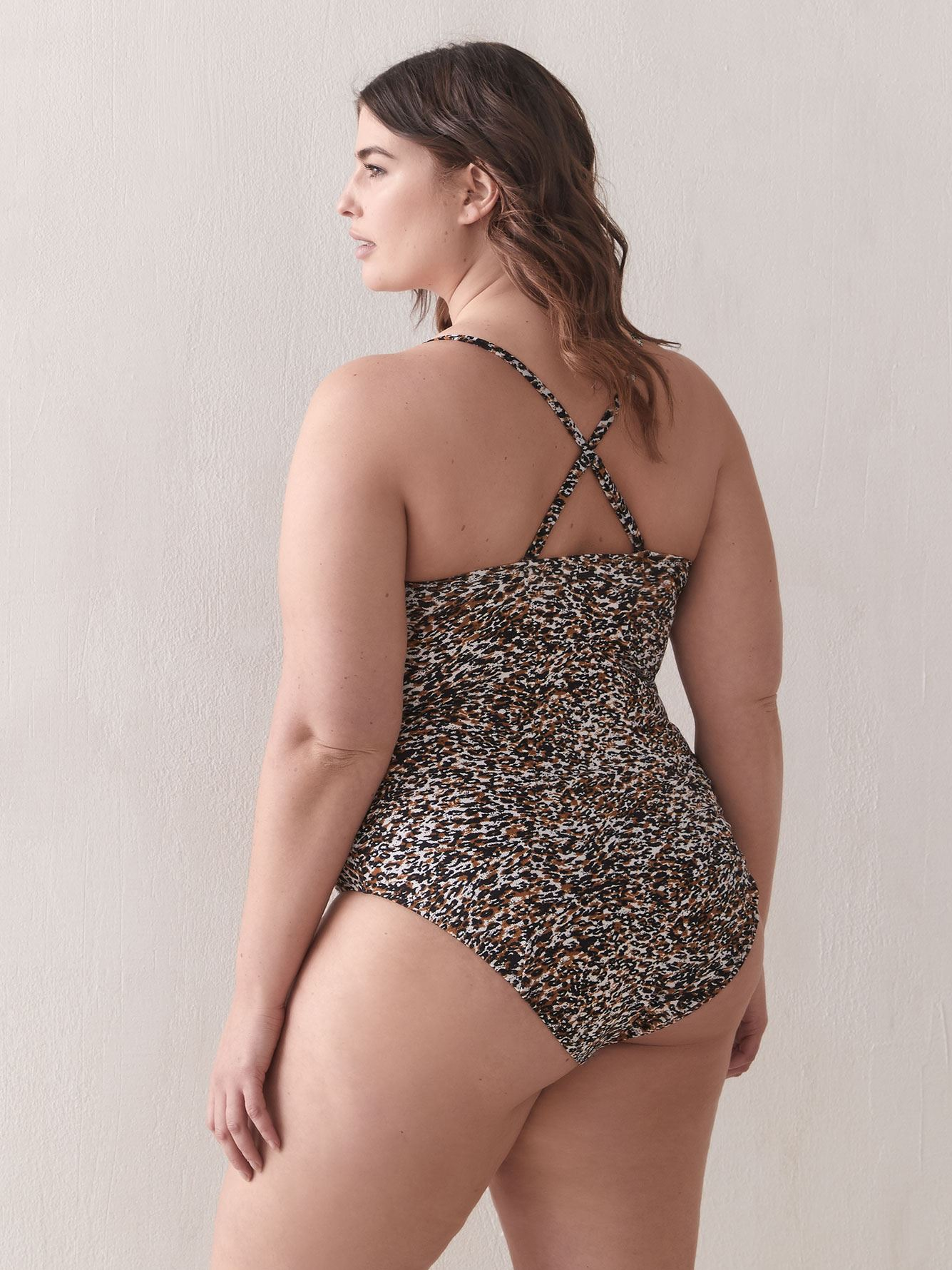 Volcom Womens on The Spot Leopard Print One Piece Swimsuit